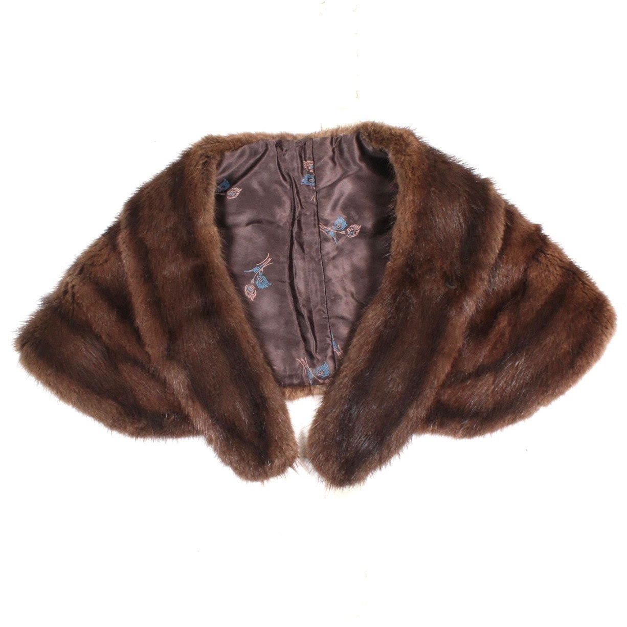 Vintage Dyed Muskrat Fur Stole