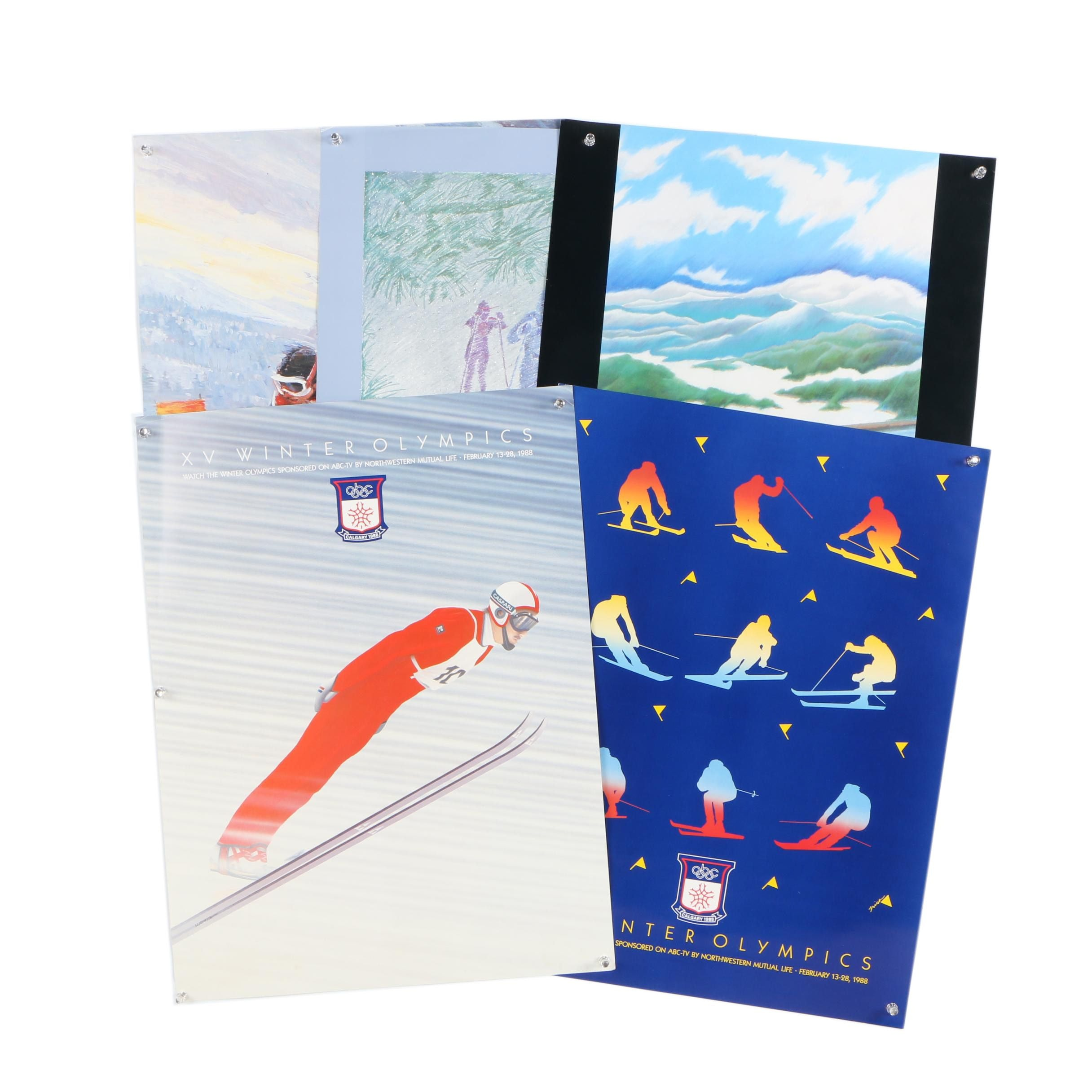 1988 Winter Olympic Games Promotional Posters