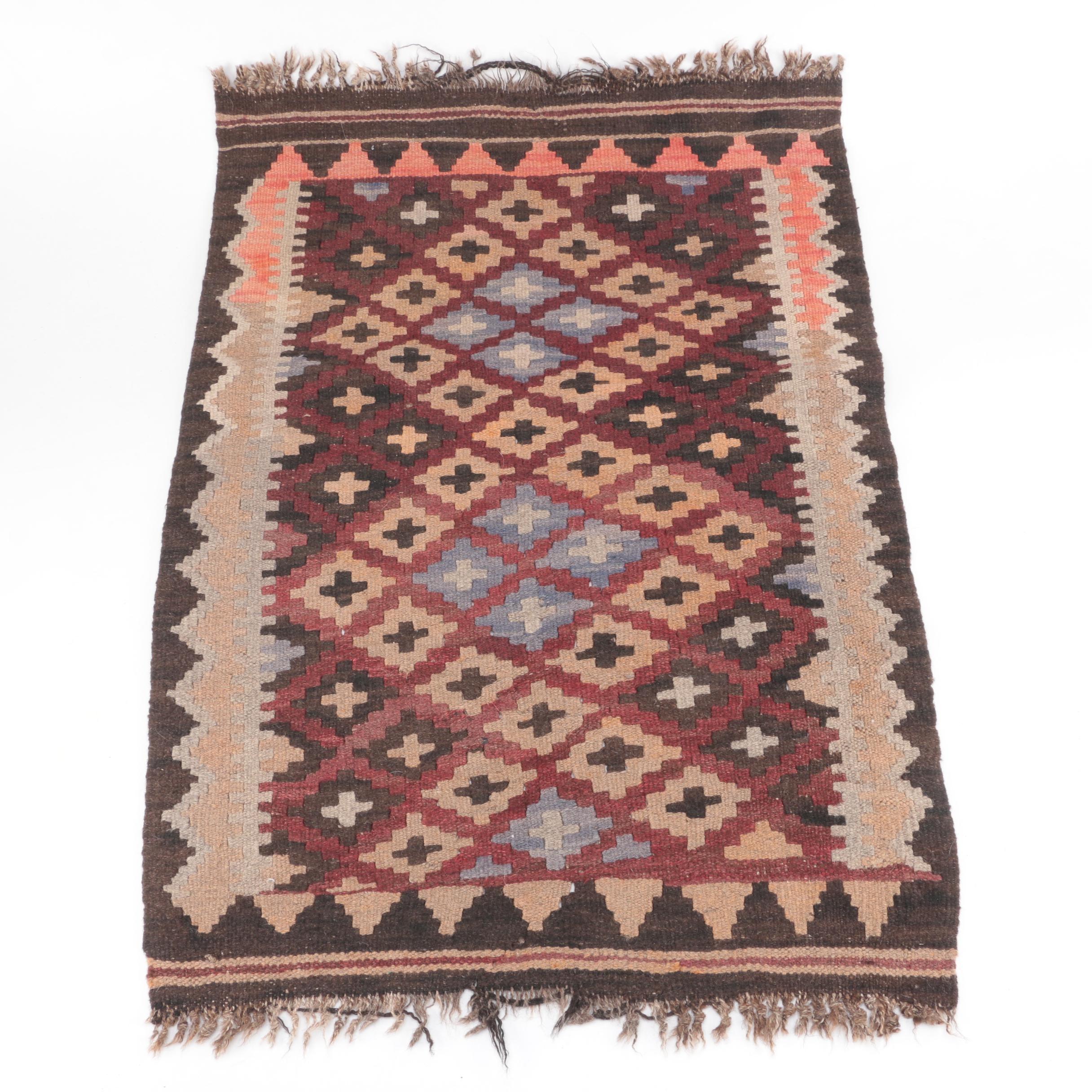 Handwoven Anatolian Wool Accent Kilim