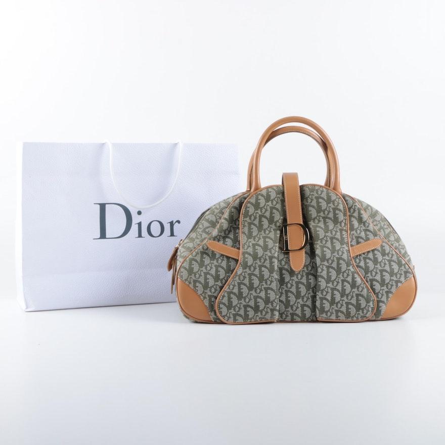 74a8bd902d9f Dior Monogram Canvas Domed Satchel Handbag   EBTH