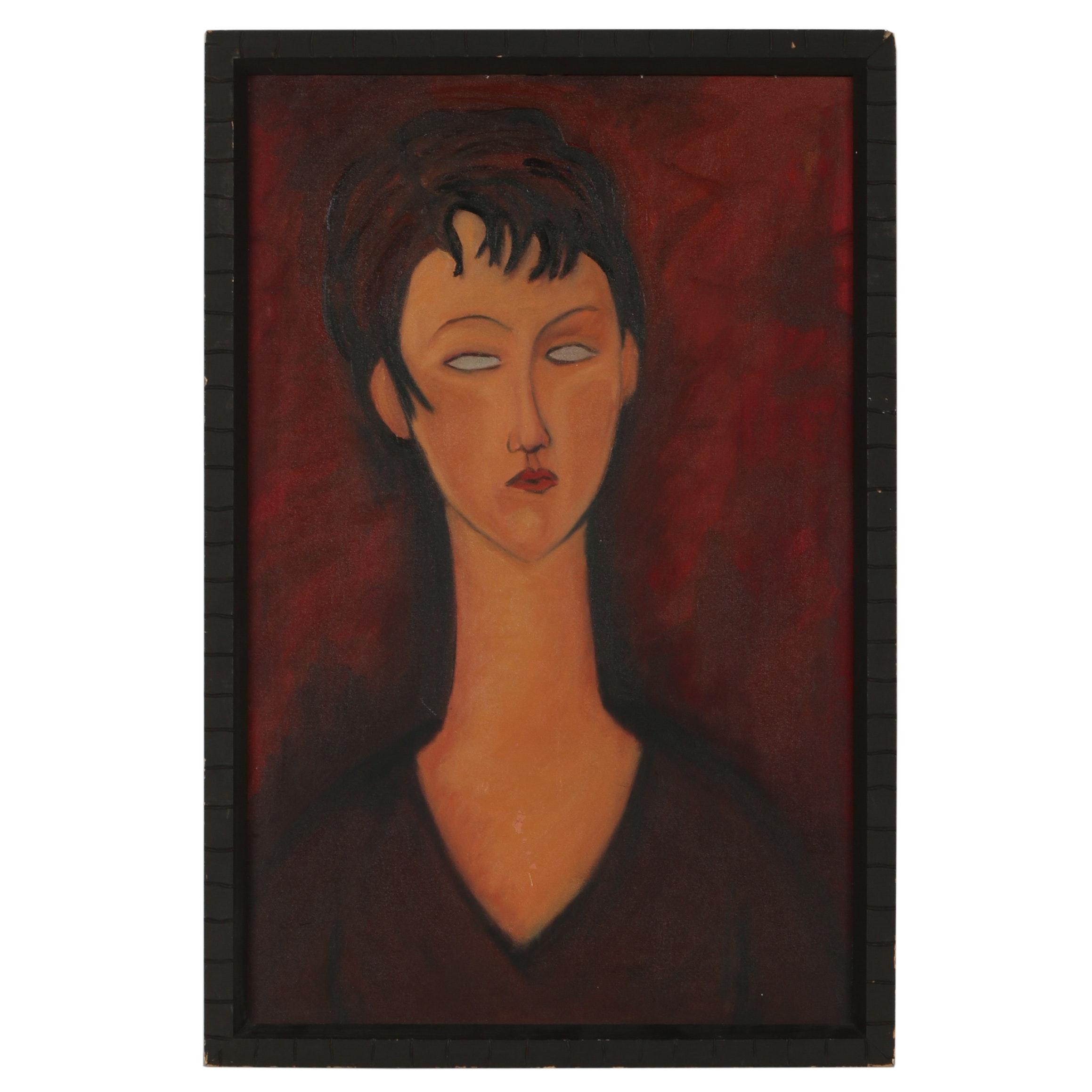 20th Century Oil Portrait