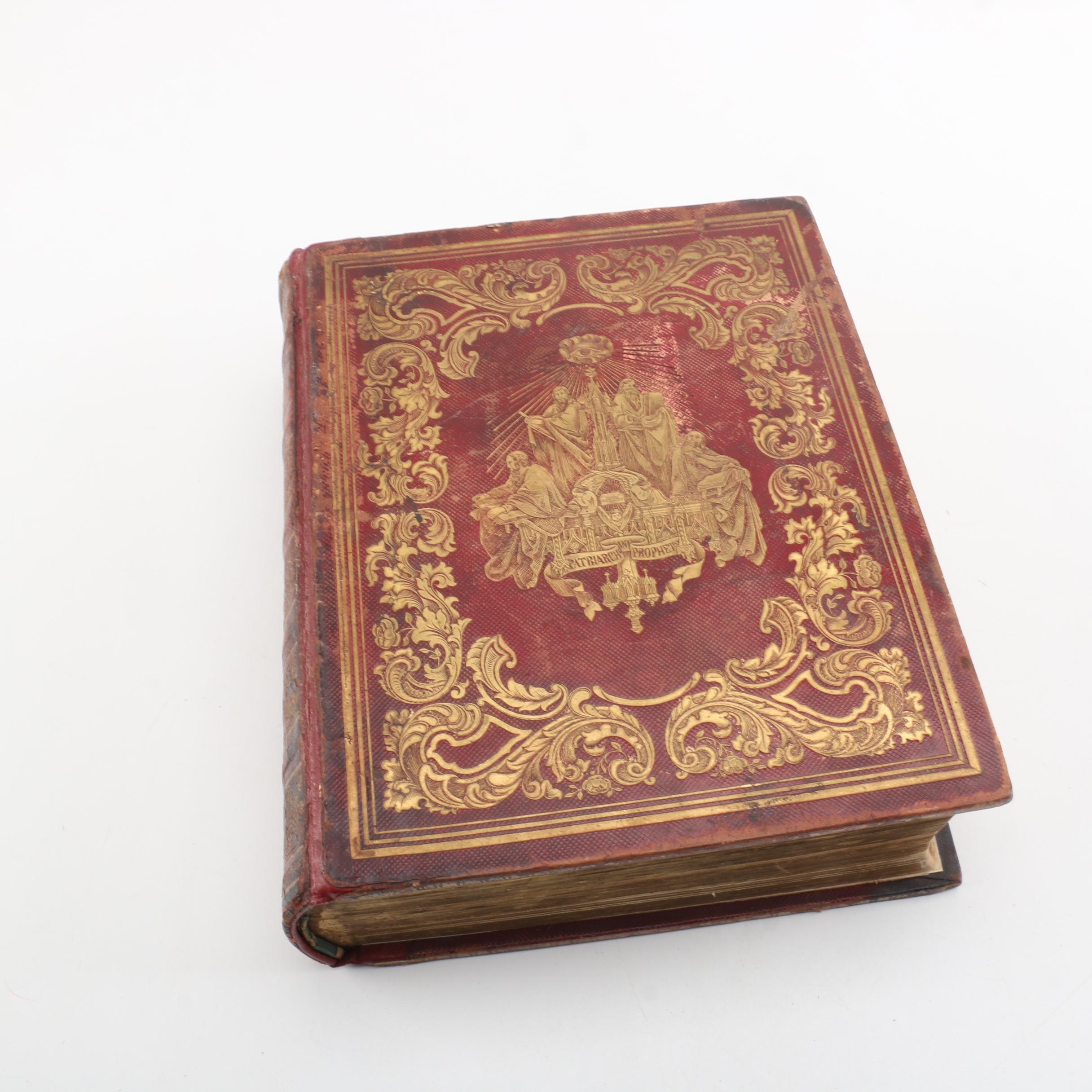 1852 Leather Bound Bible Published by John B. Perry