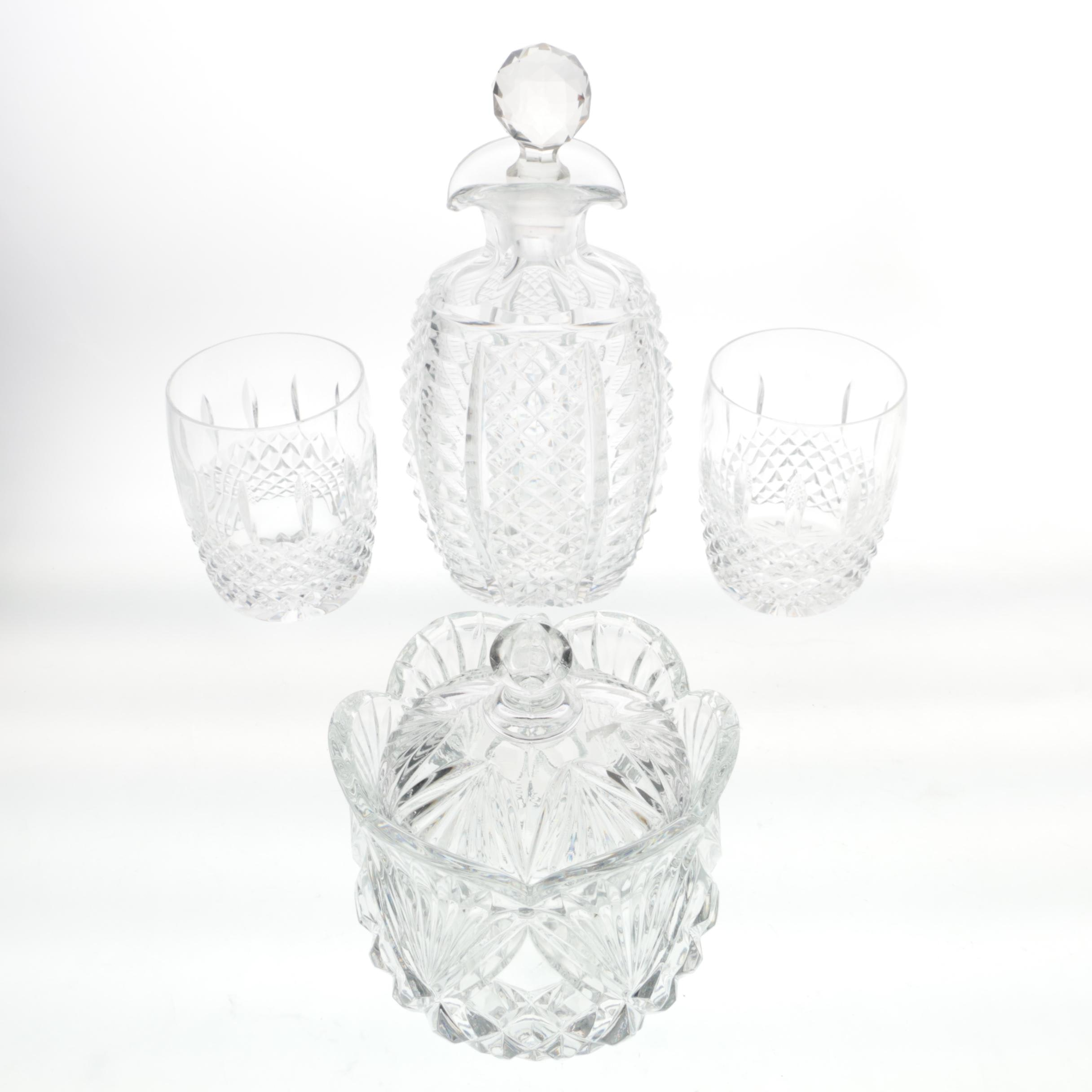 "Waterford Crystal ""Glenmede"" Glasses with Crystal Tableware"