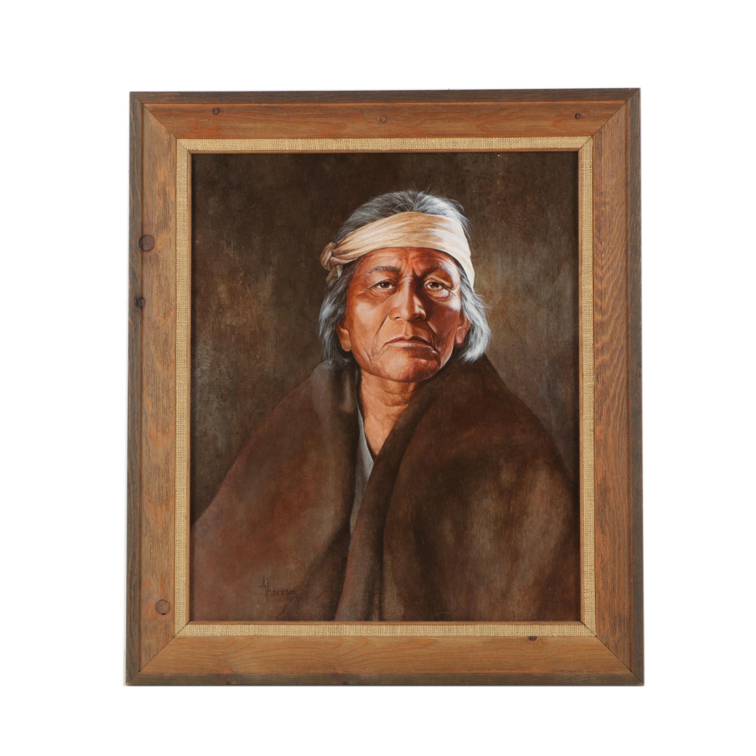 A. Bridge Oil Painting of Portrait