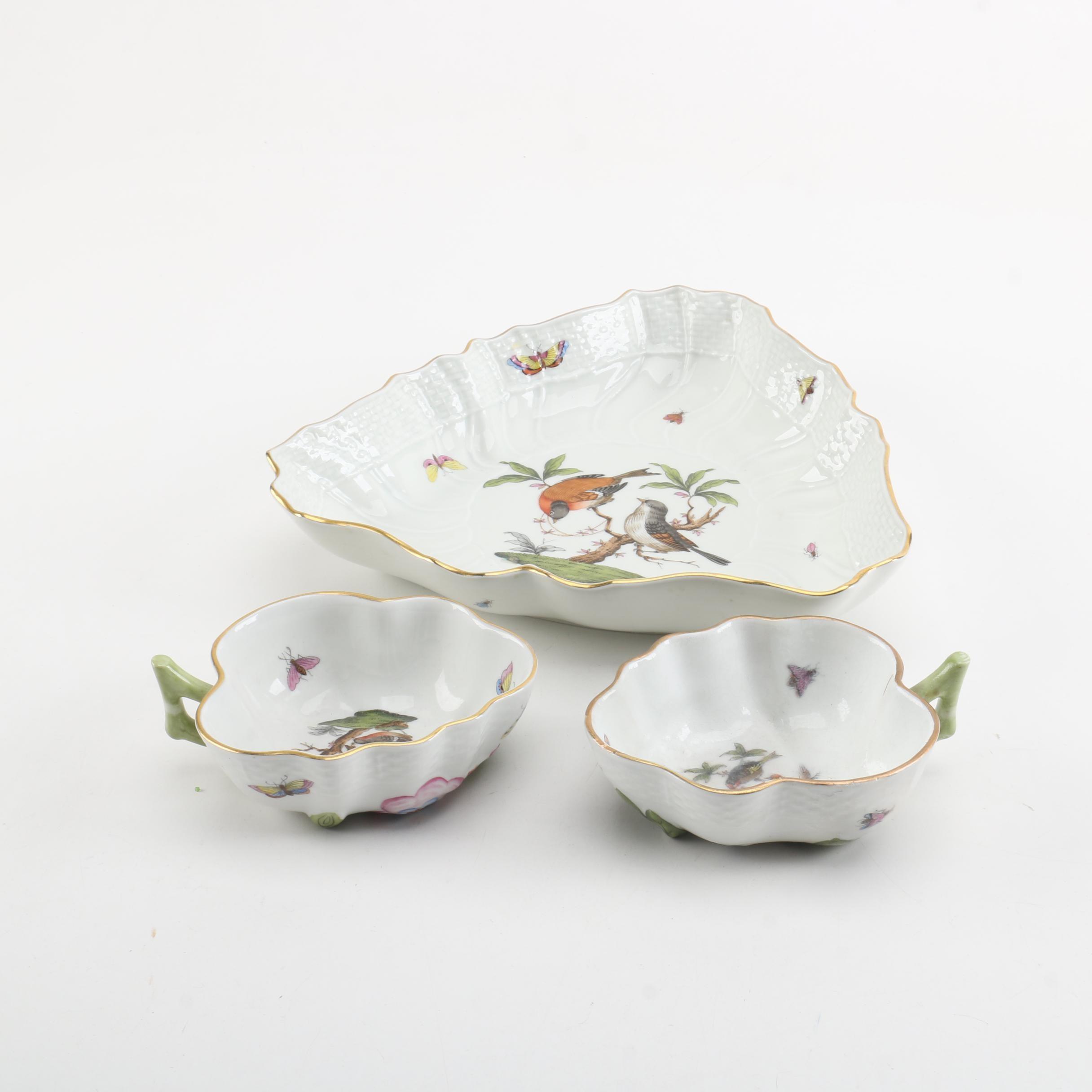 "Herend ""Rothschild Bird"" Porcelain Tableware"
