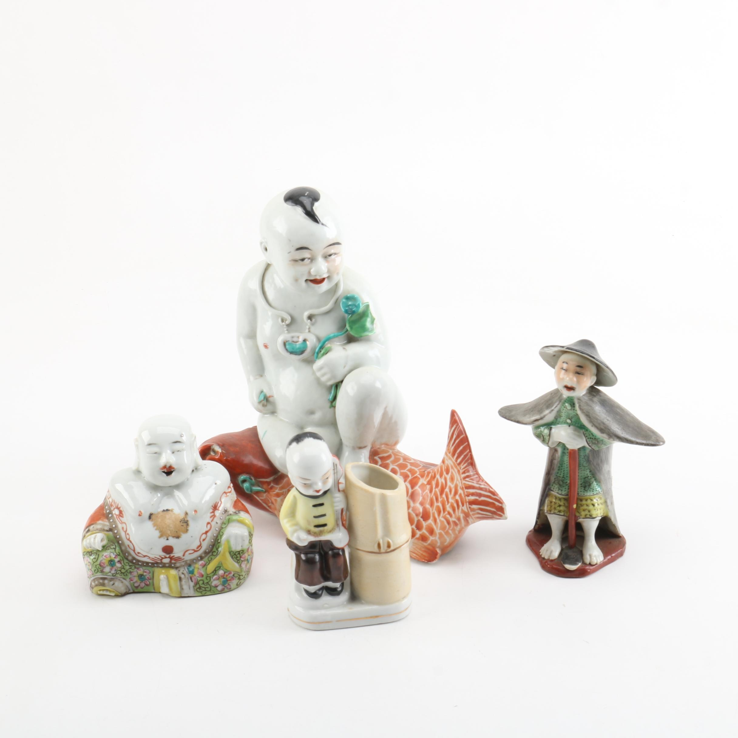 Ceramic Southeast Asian Inspired Figurines