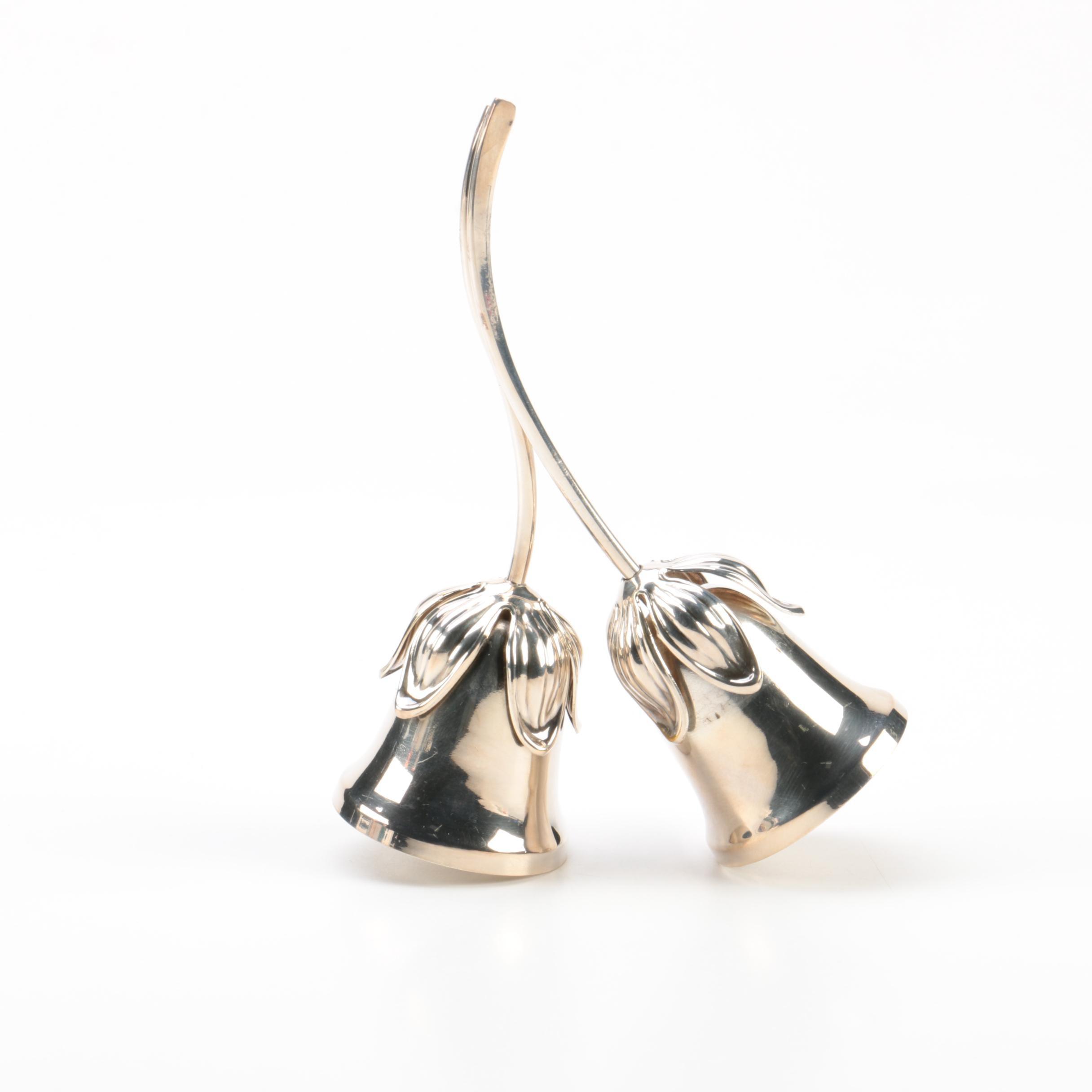 Hans Jensen/Eisenberg-Lozano Inc. Imported Danish Silver Plate Double Bell
