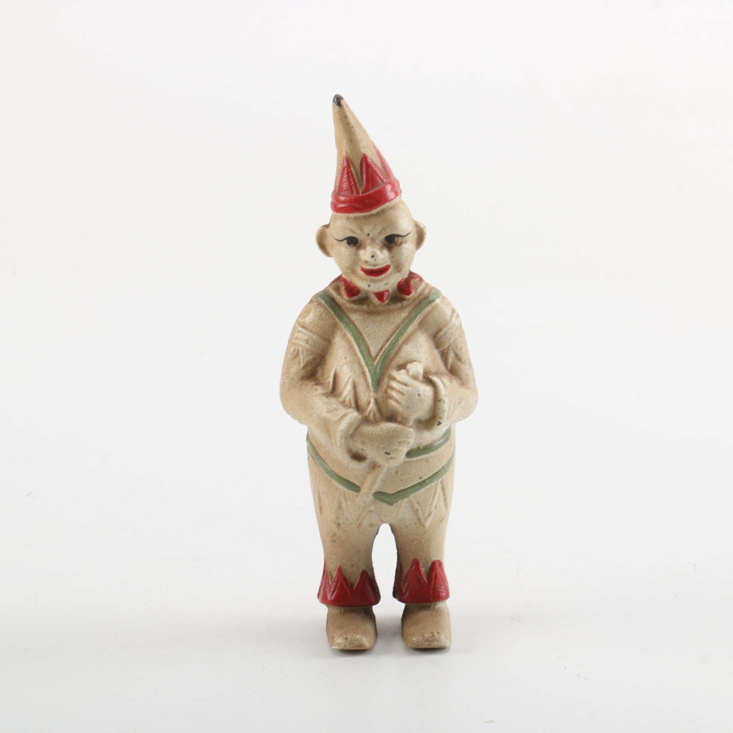 Vintage Clown Bank Figurine