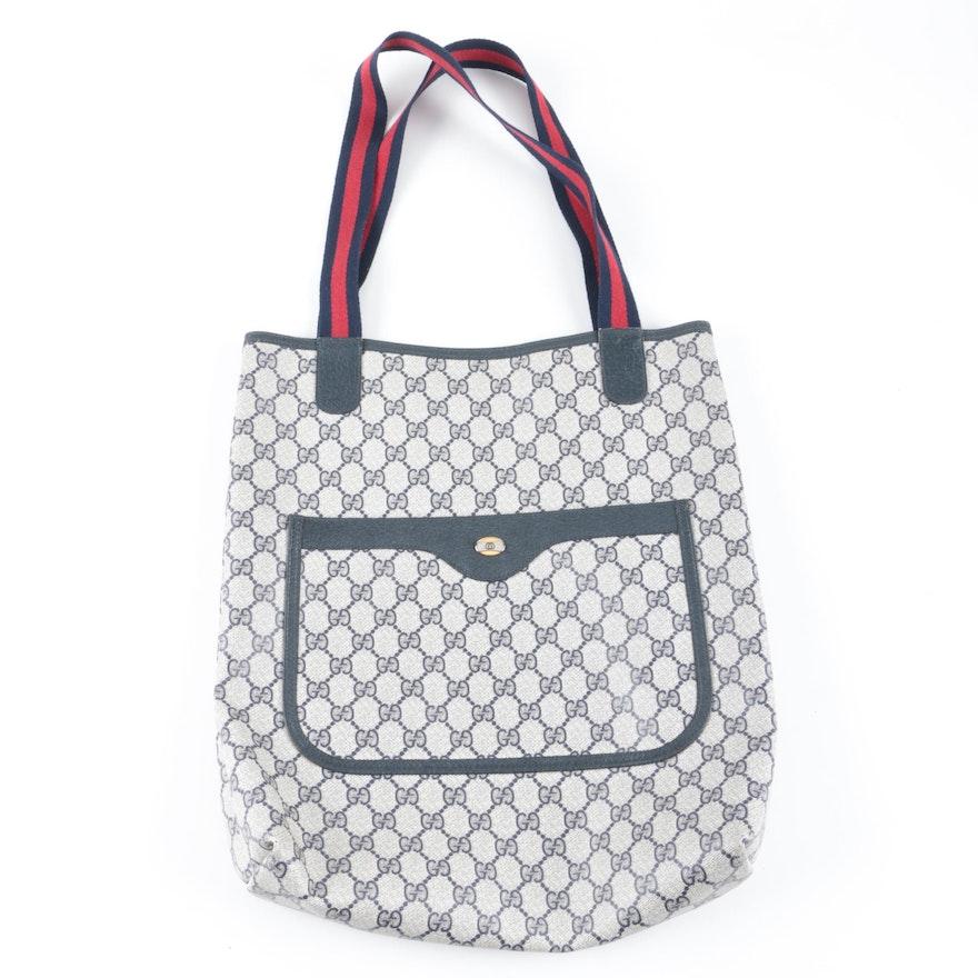 373b891e5e9c Vintage Gucci Sherry Line GG Supreme Canvas Tote Bag   EBTH