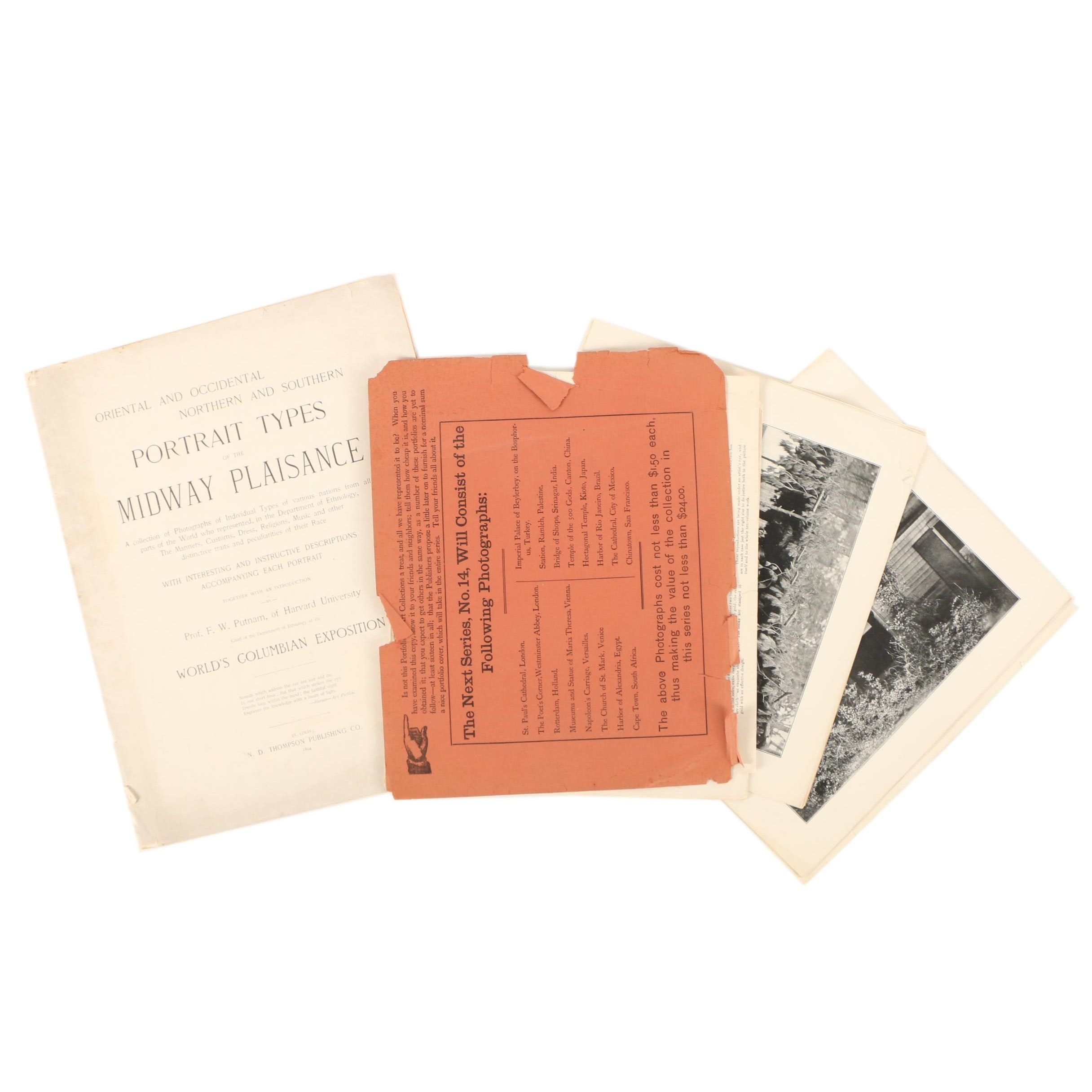"""Photographic Collection Books Featuring """"Portrait Types of the Midway Plaisance"""""""