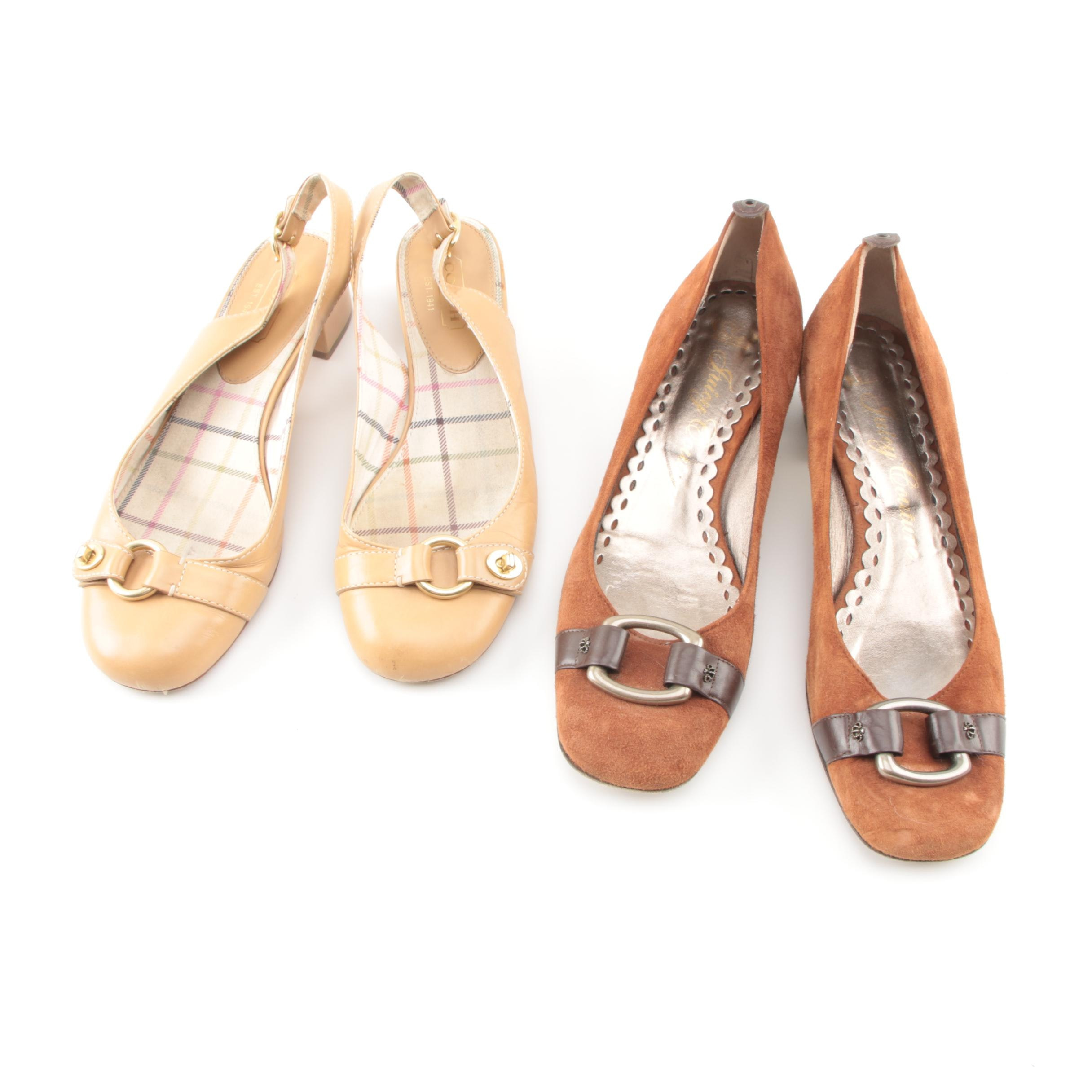 Women's Juicy Couture and Coach Octava Flats