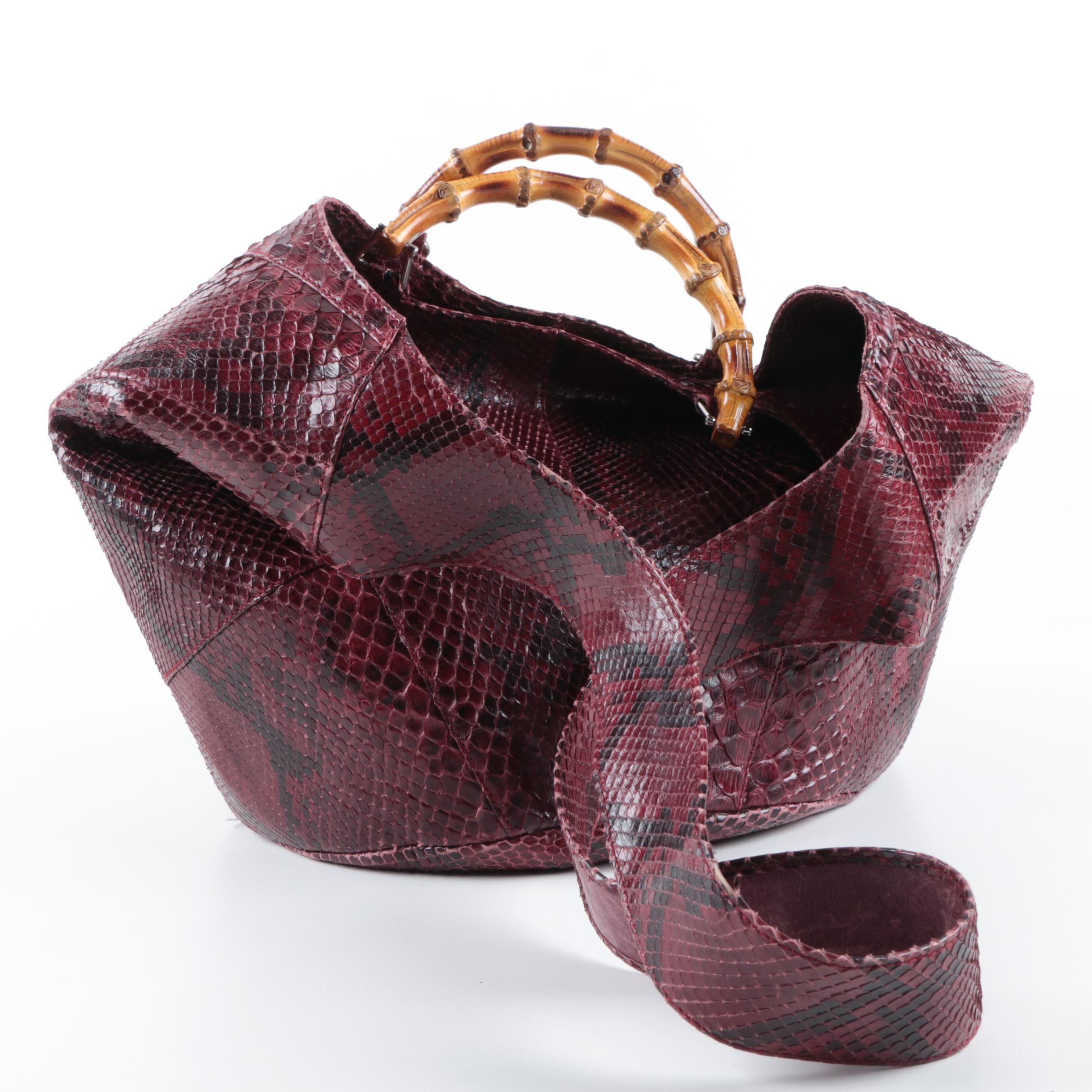Gucci Python Snakeskin Hobo Bag