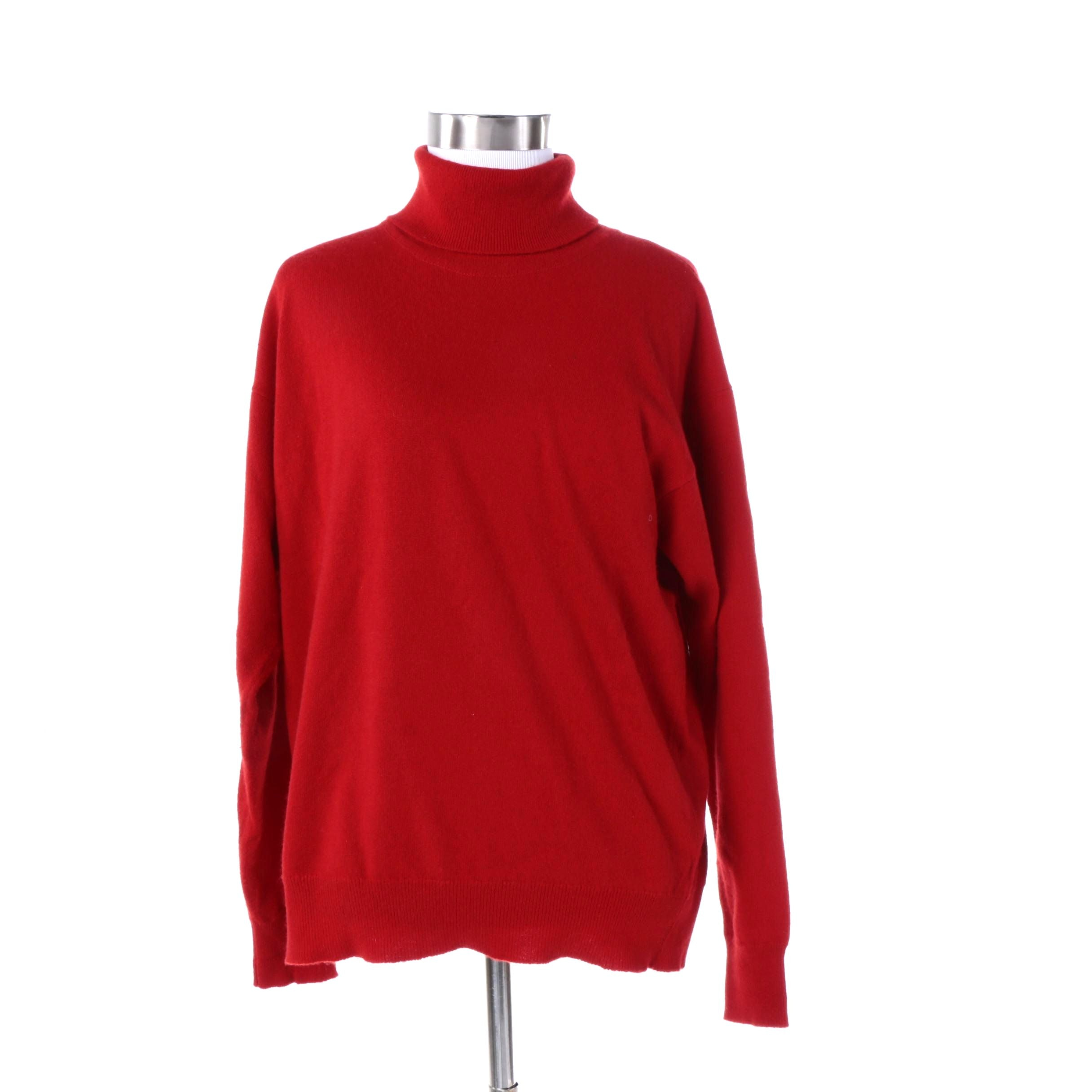 Women's Red Cashmere Sweater