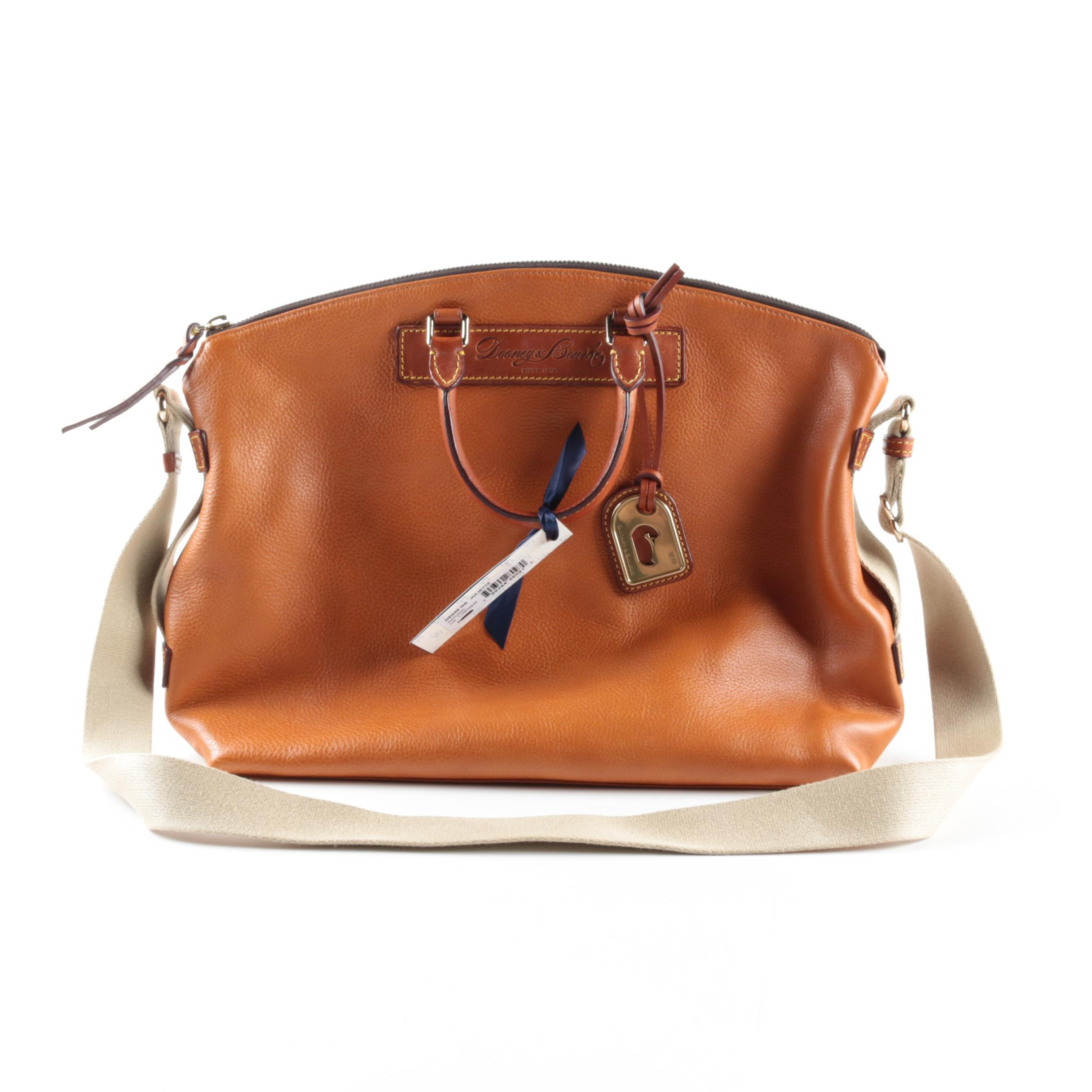 Dooney & Bourke Juliette Brown Leather Satchel