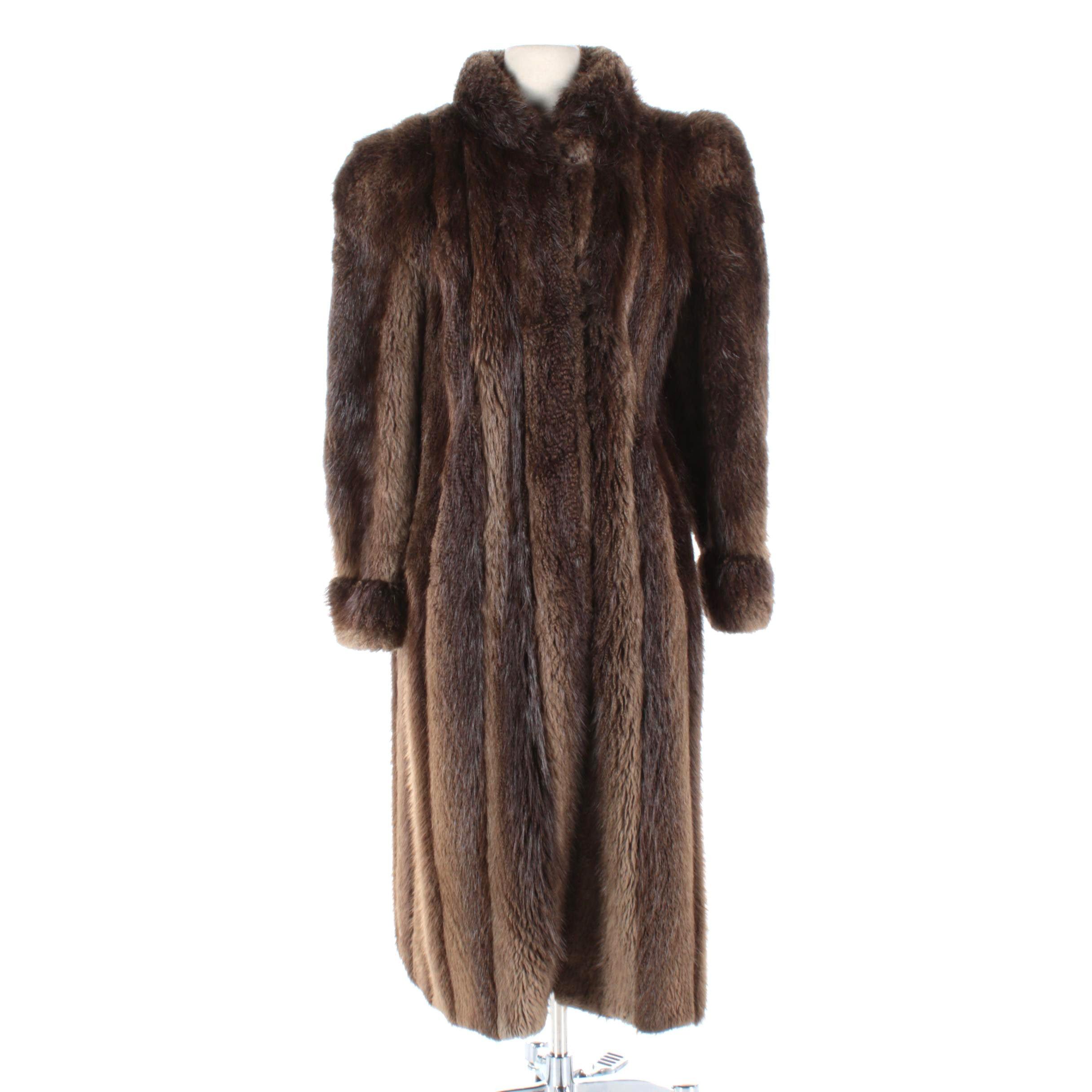 Women's Vintage Beaver Fur Coat