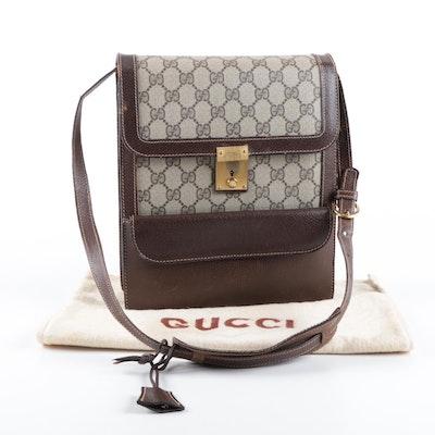 2fe892ebfd91 Vintage Gucci GG Supreme Coated Canvas Shoulder Bag
