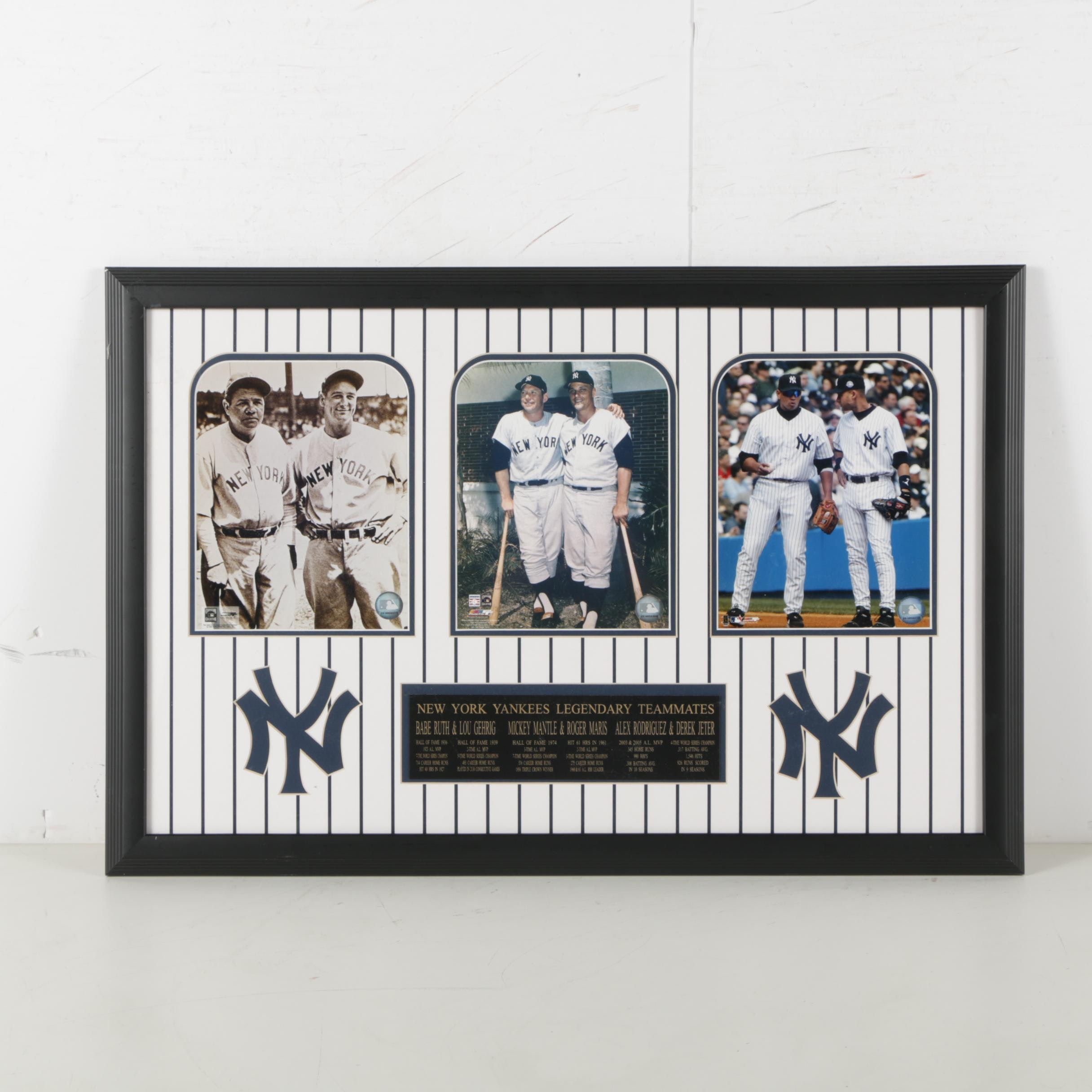 New York Yankees Legendary Teammates Plaque