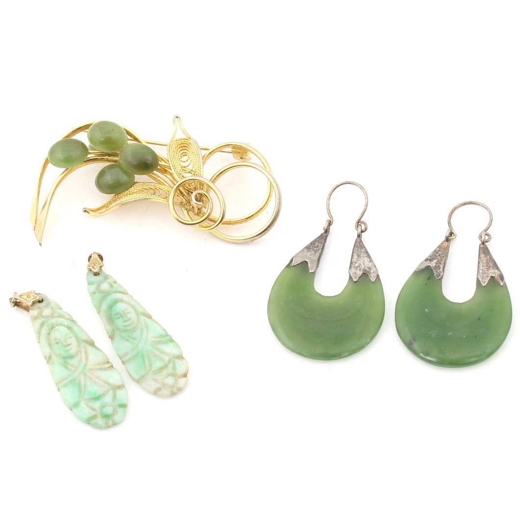 Nephrite and Agate Jewelry