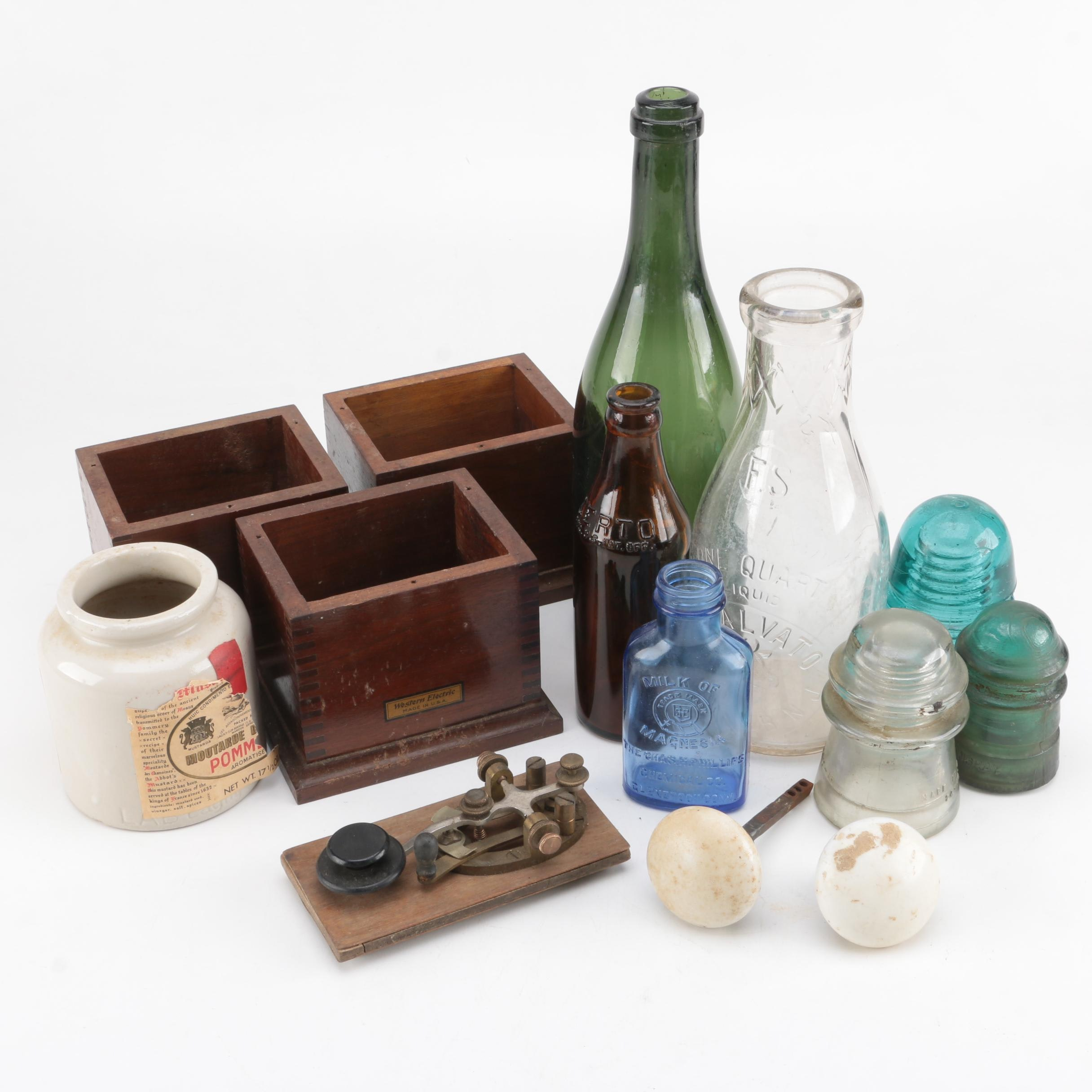Wood, Glass and Ceramic Collectibles