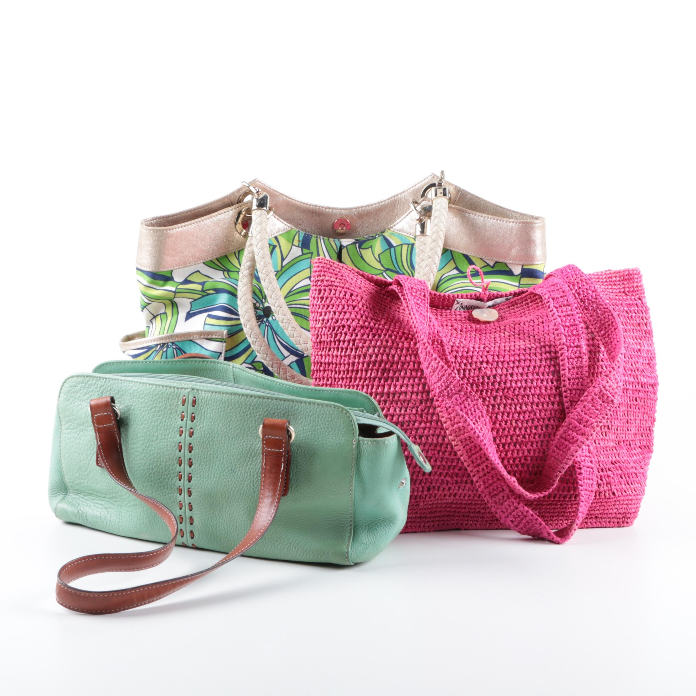 Women's Colorful Handbags Including Annabel Ingall