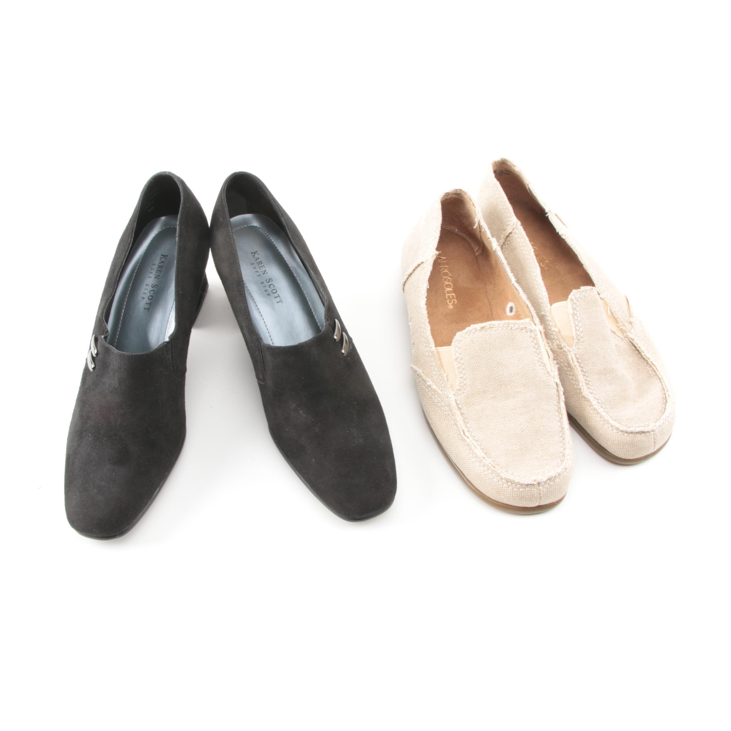 Karen Scott Suede Heels and Aerosoles Slip-On Shoes