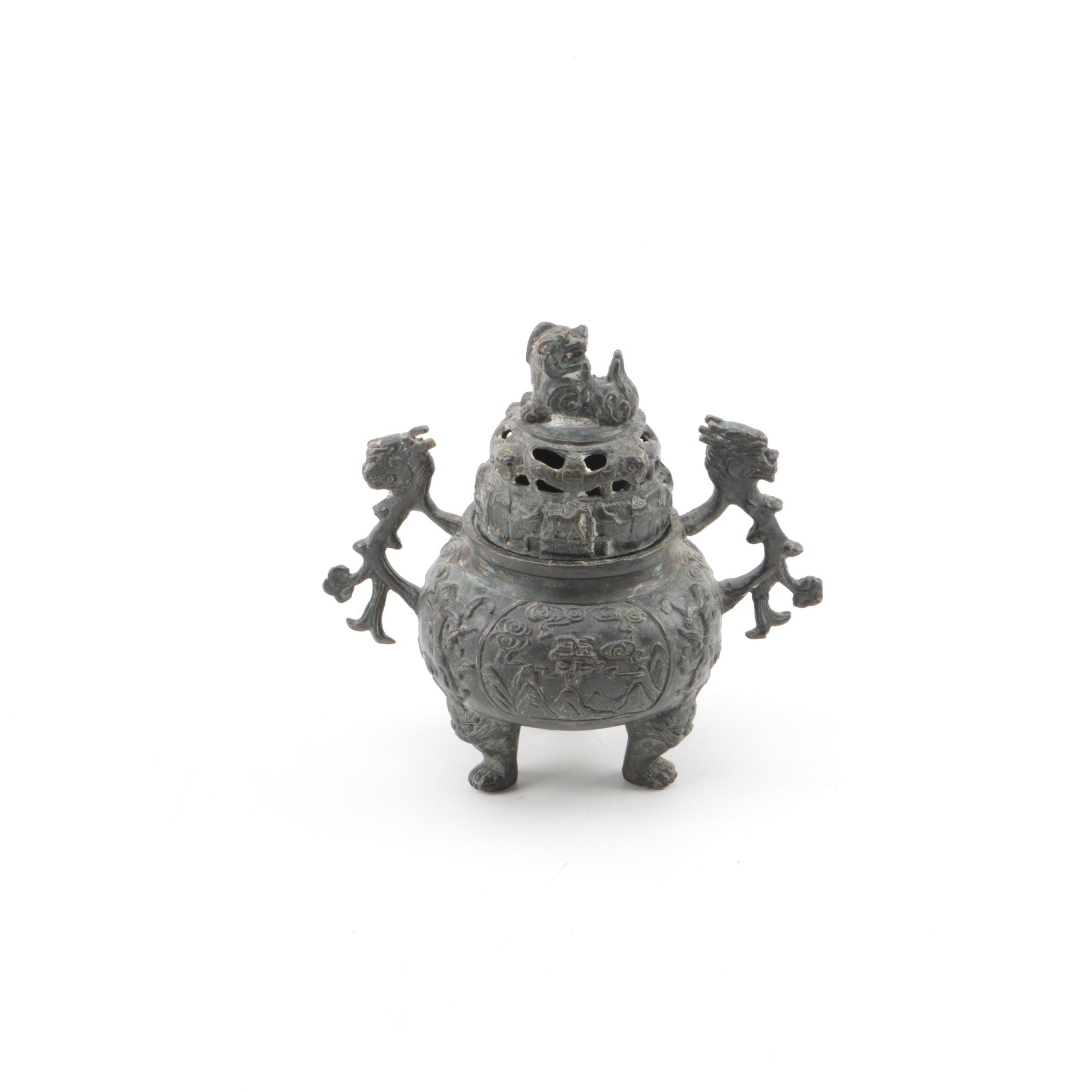 Chinese Metal Incense Burner