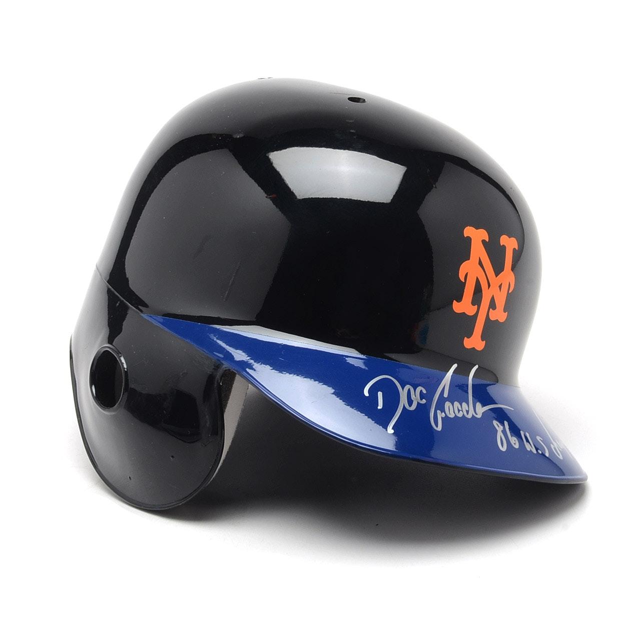 Doc Gooden Autographed Mets Helmet  COA