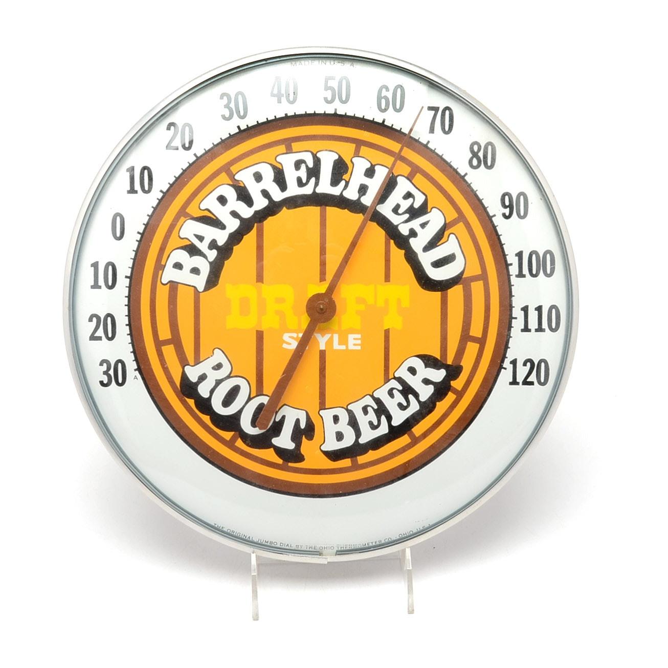 1970s Barrelhead Rootbeer Thermometer