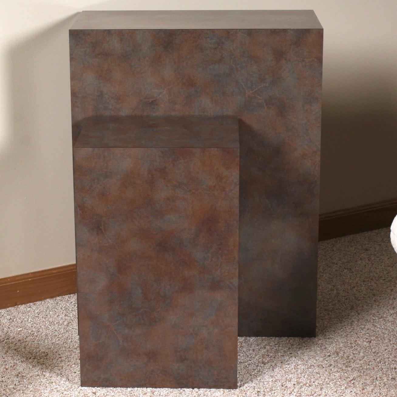 Metallic Finish Display Pedestals