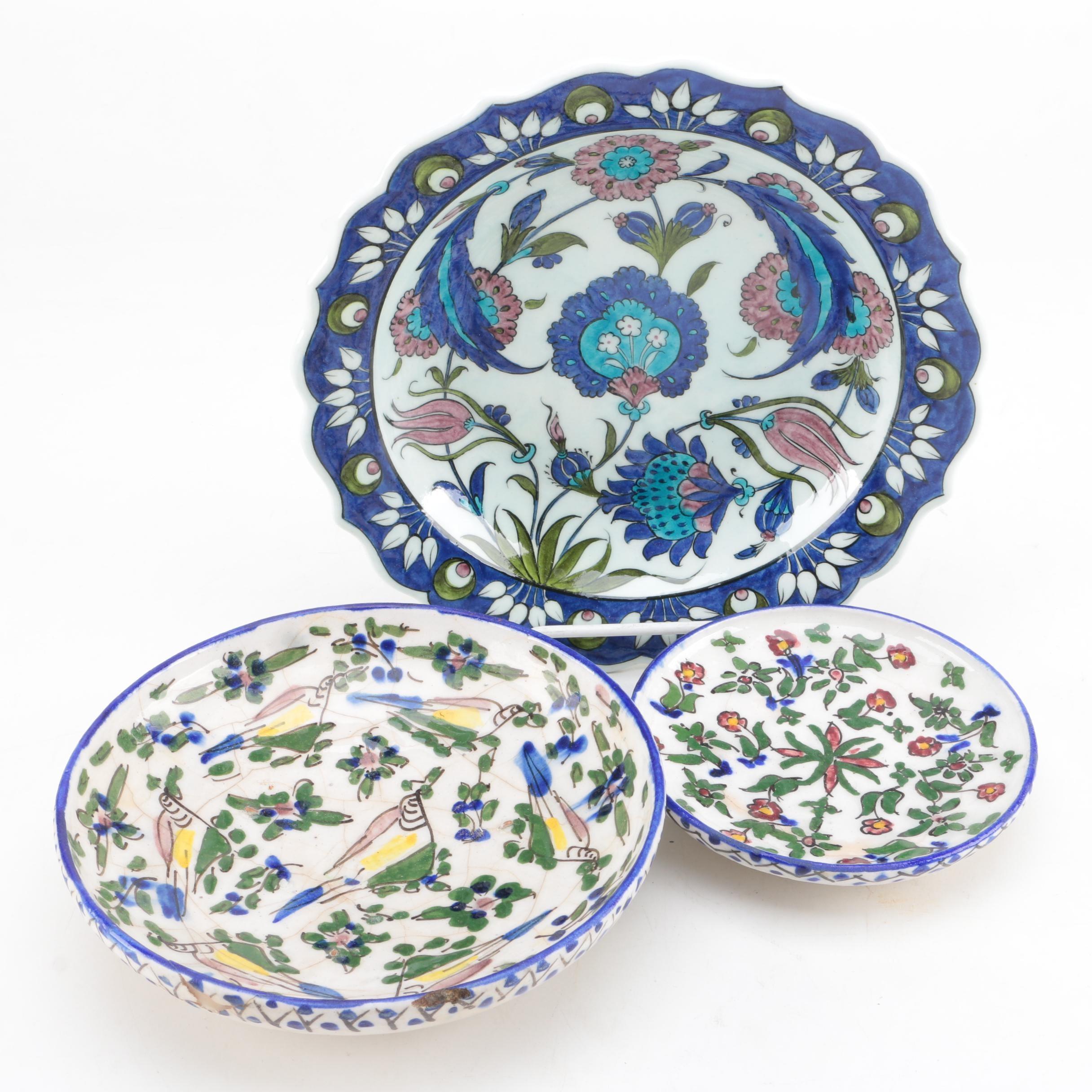 Pottery Tableware Featuring Signed Ibrahim Kuslu Turkish Pottery Plate ...  sc 1 st  EBTH.com & Pottery Tableware Featuring Signed Ibrahim Kuslu Turkish Pottery ...
