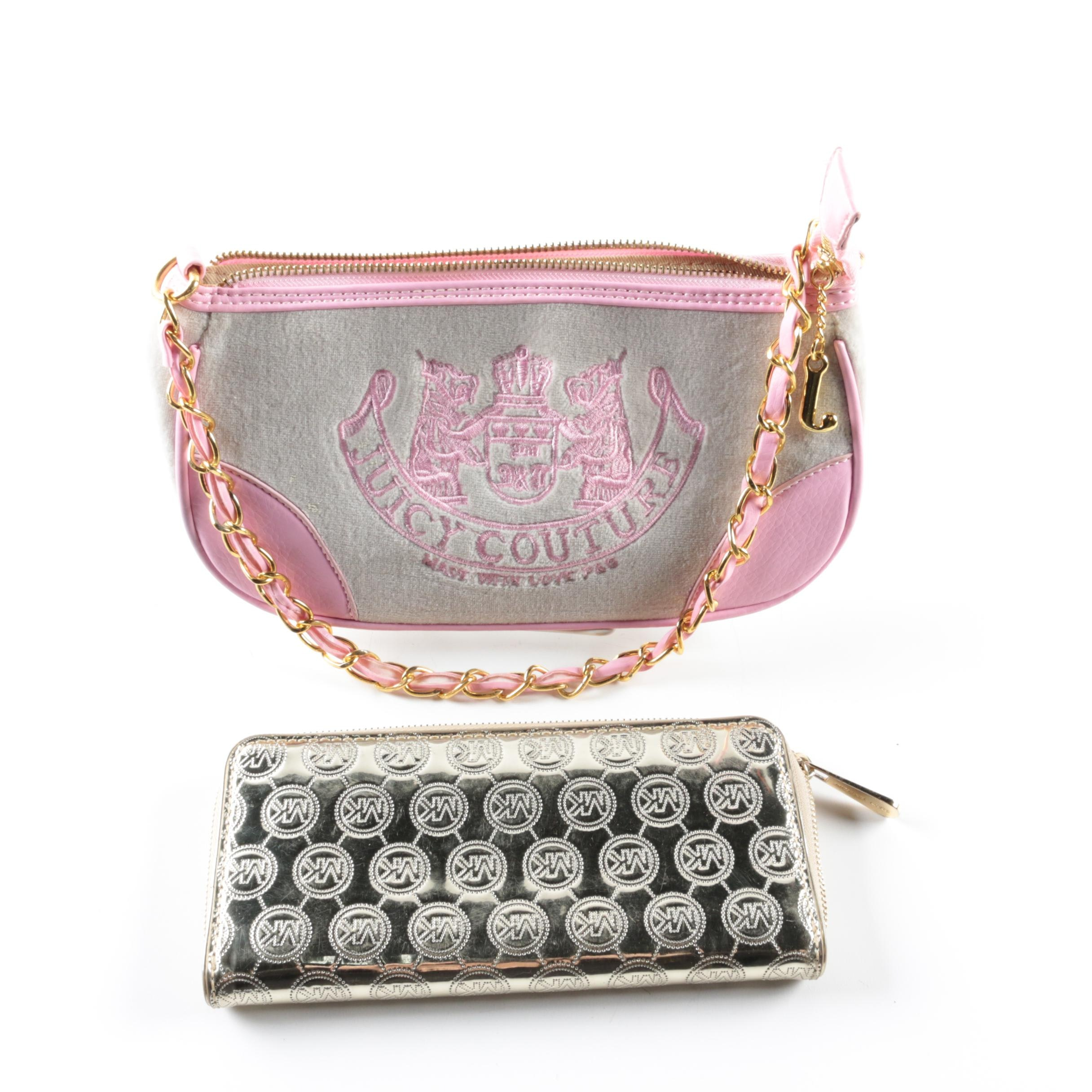 Michael Kors Wallet and Juicy Couture Handbag