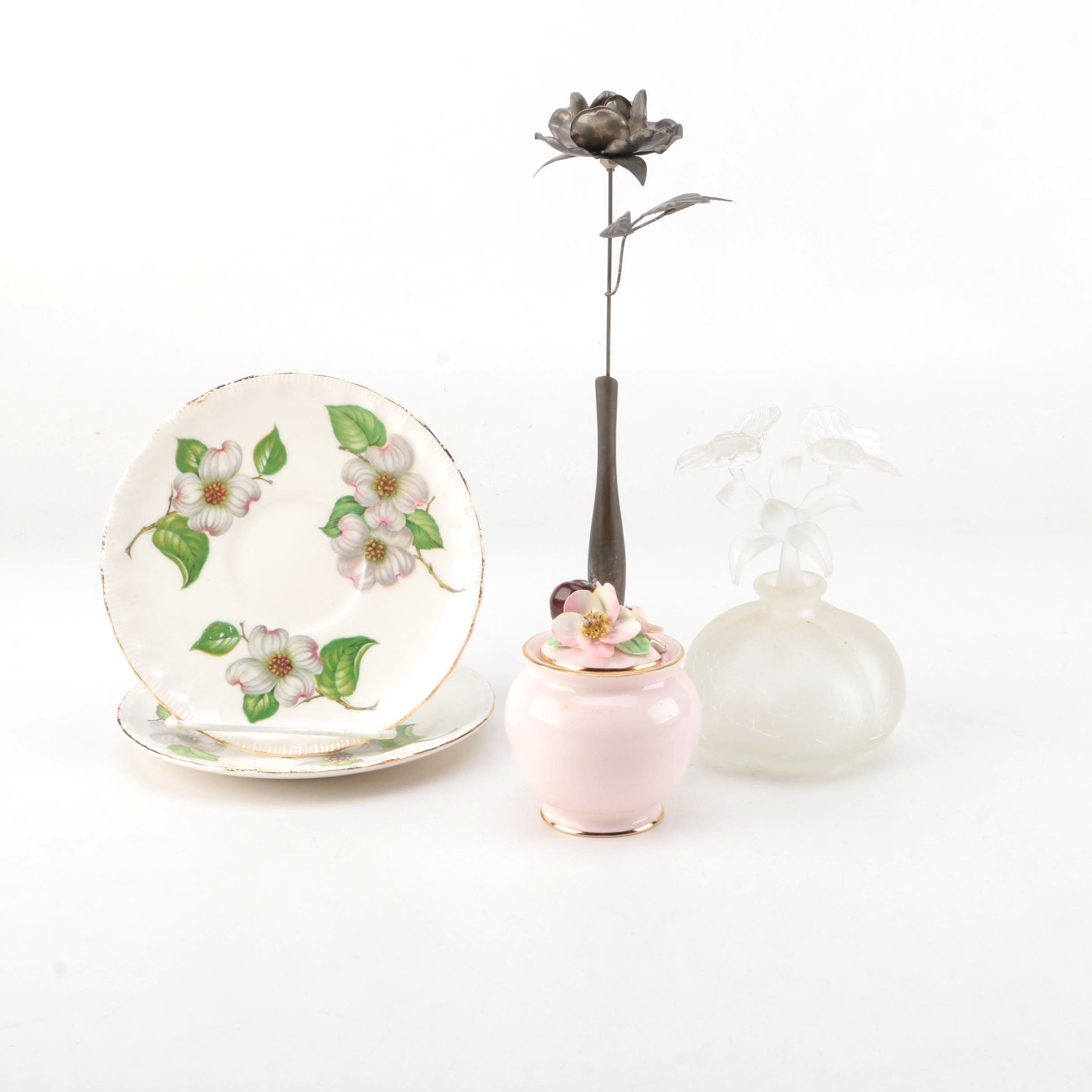 Floral Theme Decorative Scent Bottle and Other Items