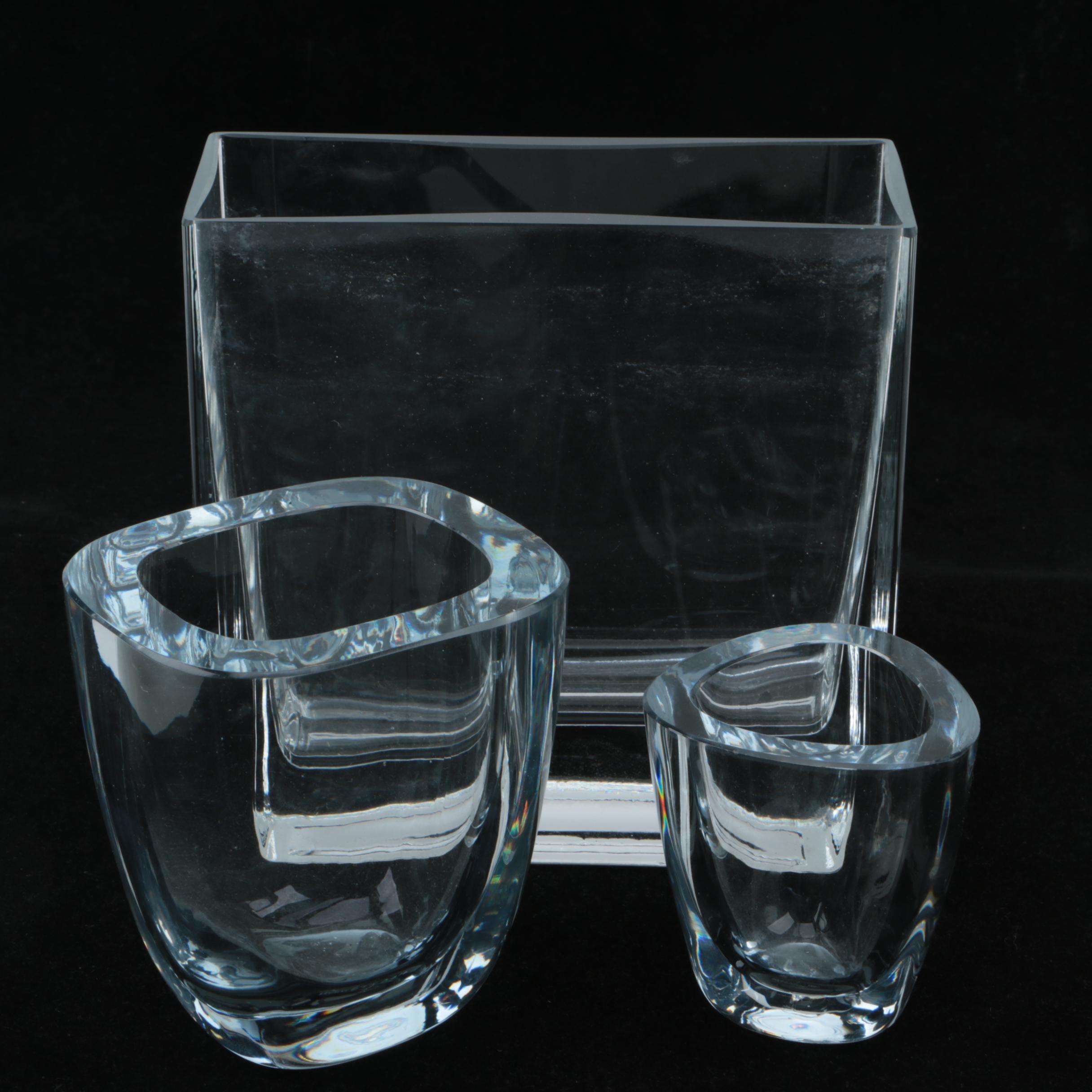 Vintage Strömbergshyttan Art Glass Vases