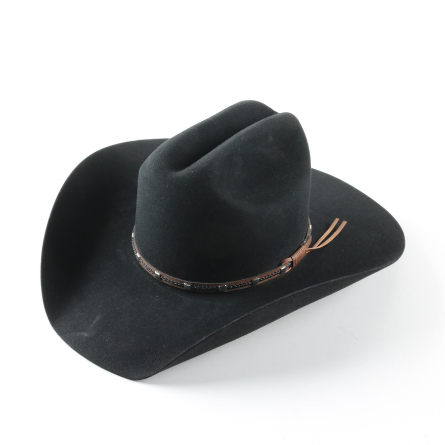 204cff78dba34d Resistol Self-Conforming 4X Black Felted Beaver Western Hat : EBTH