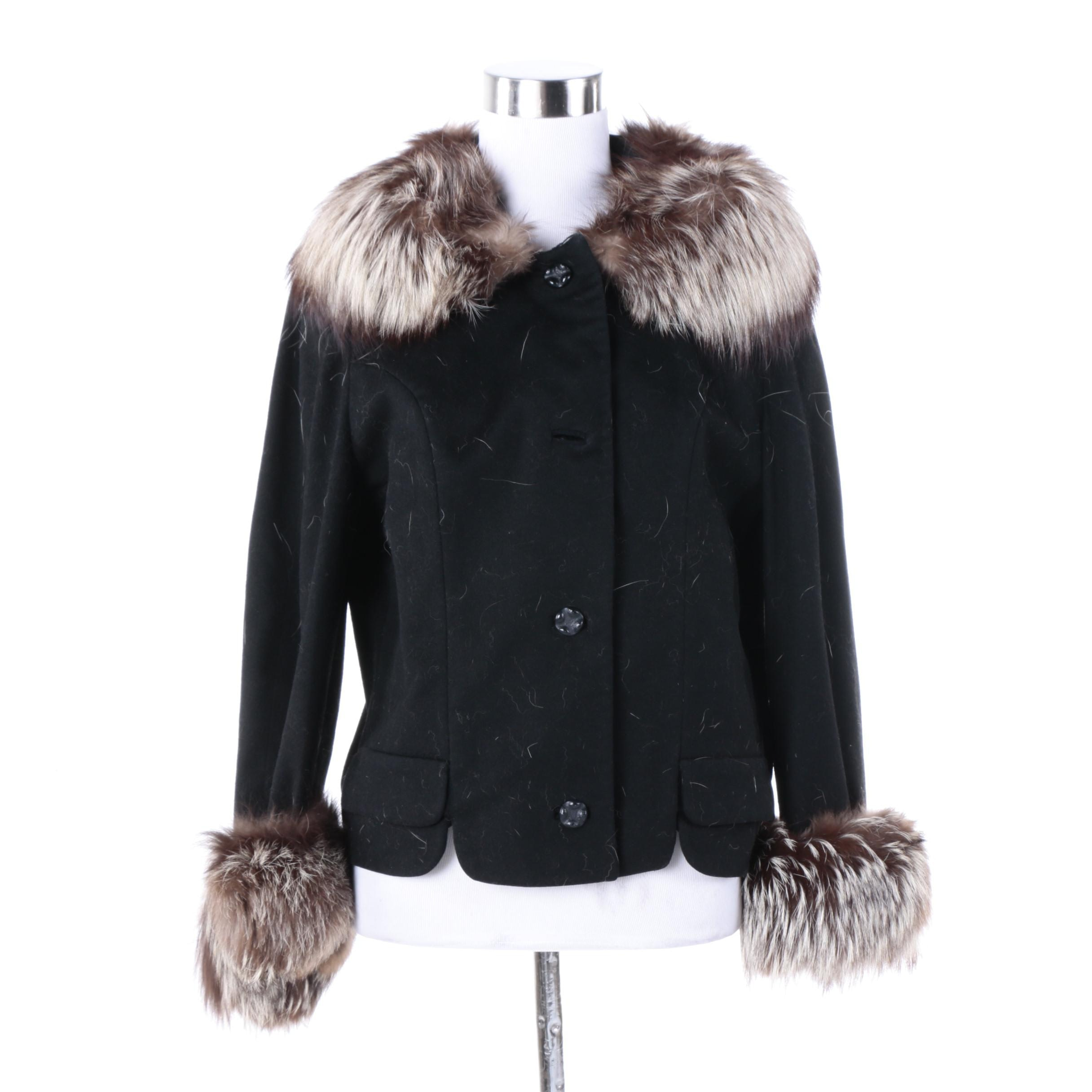 Women's Vintage Youthcraft Jacket with Silver Fox Fur Trim