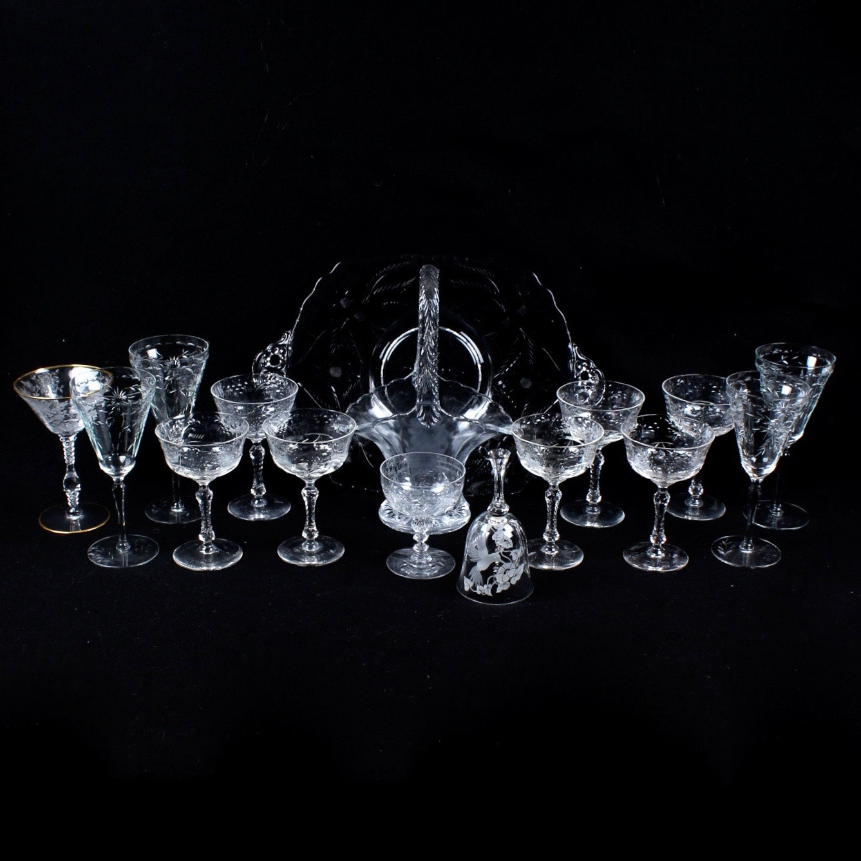 Glassware with Cut Designs