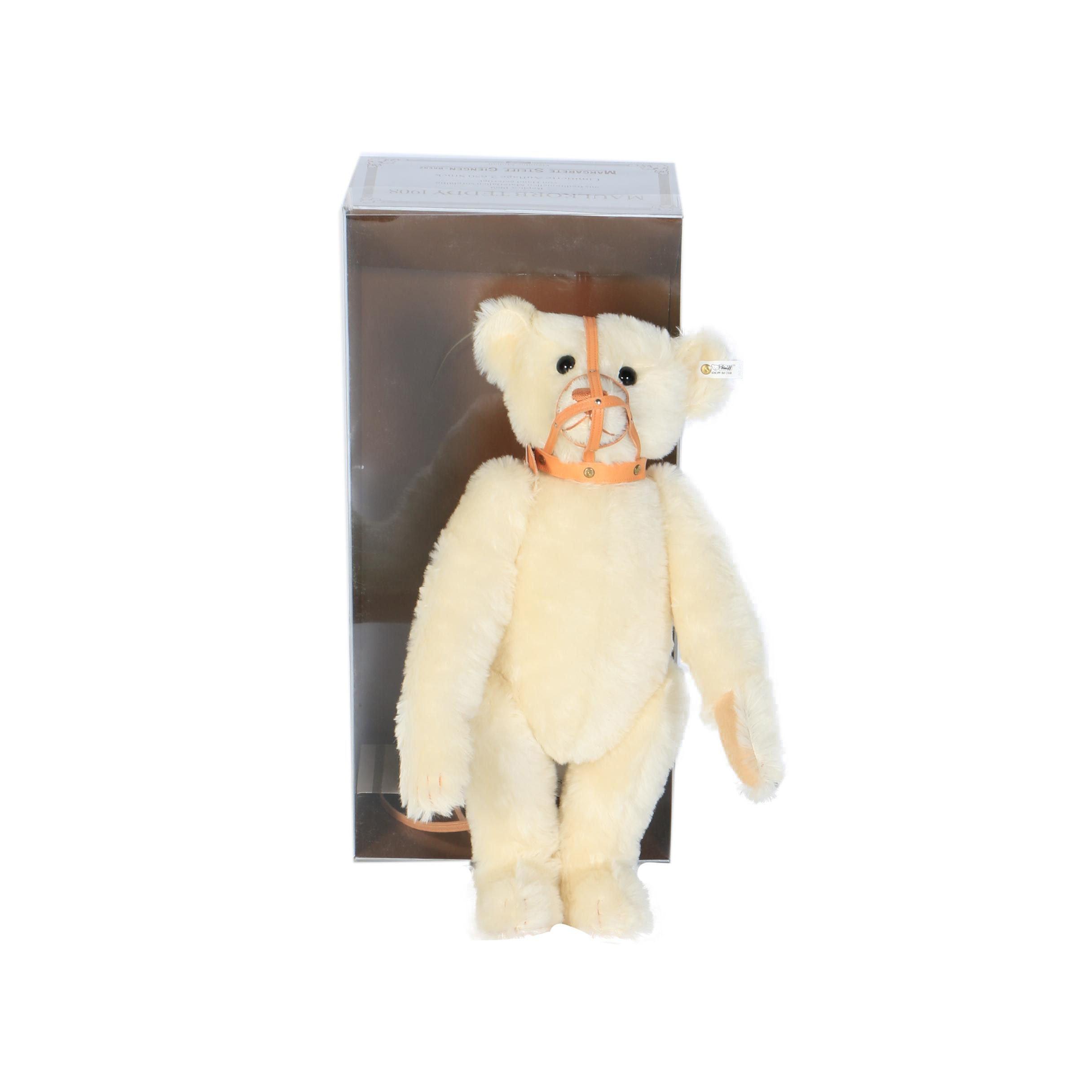 """1989 Steiff Limited Edition """"Maulkorb Teddy 1908"""" Teddy Bear"""