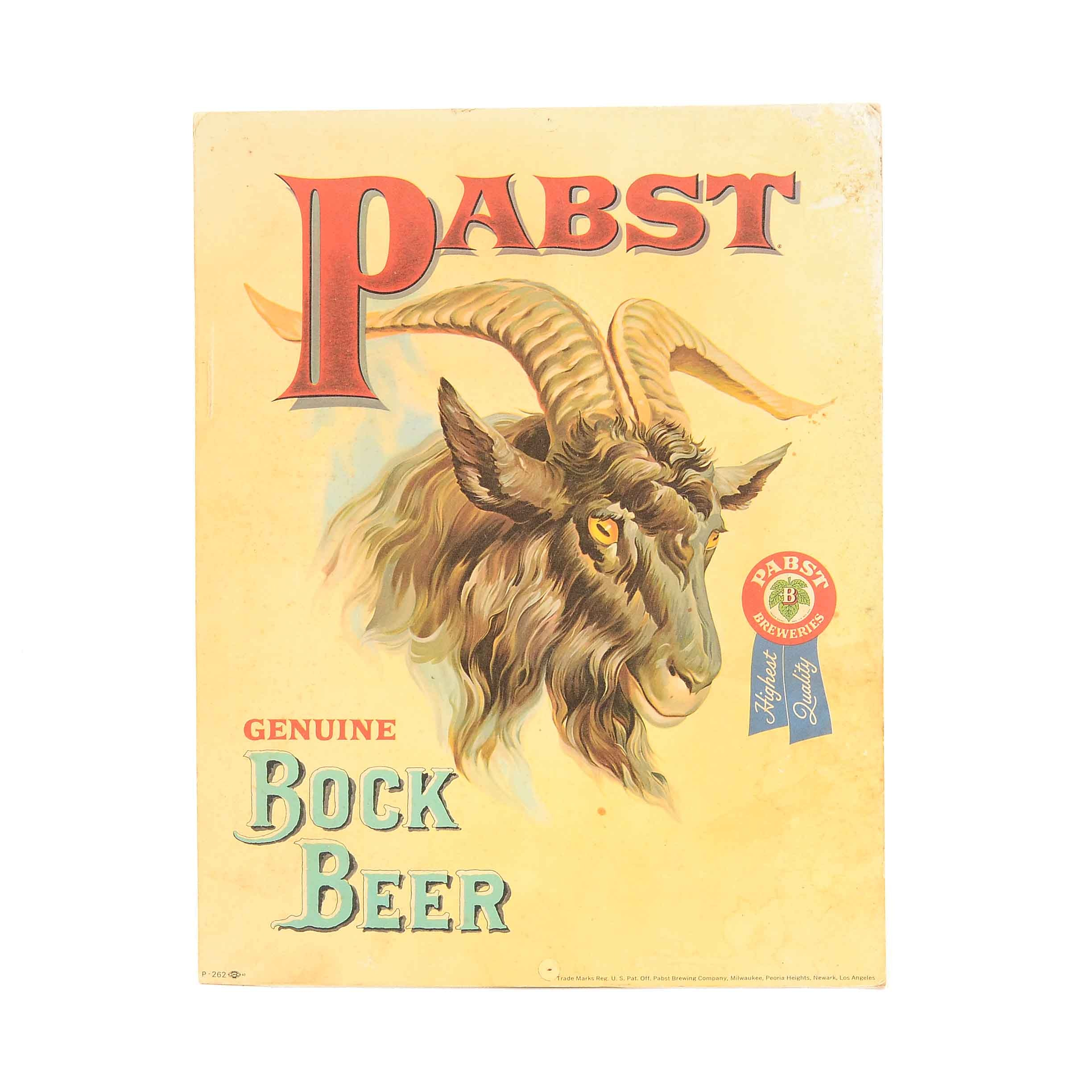 Pabst Bock Beer Sign