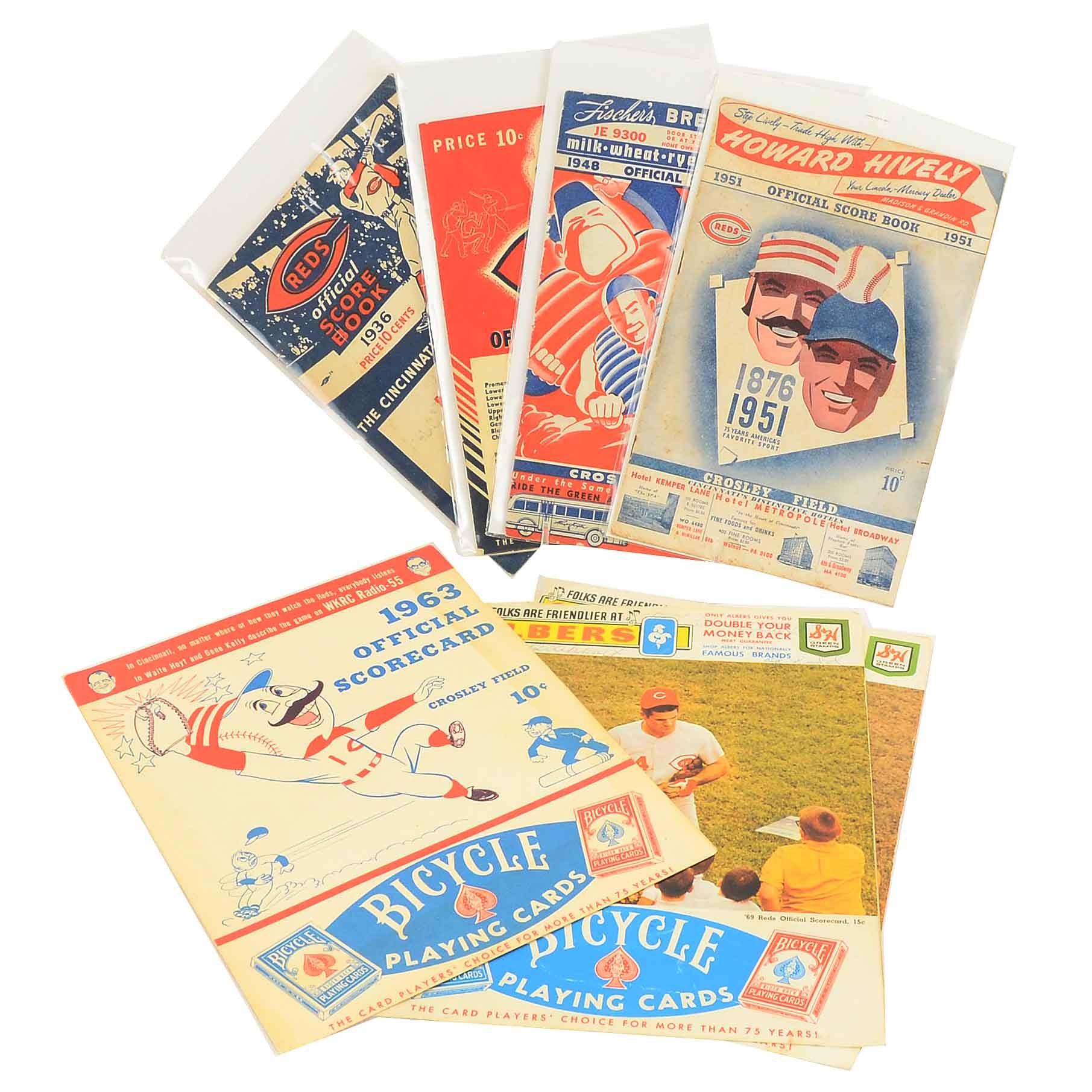 1930s-1969 Reds Scorecard, One has Signatures