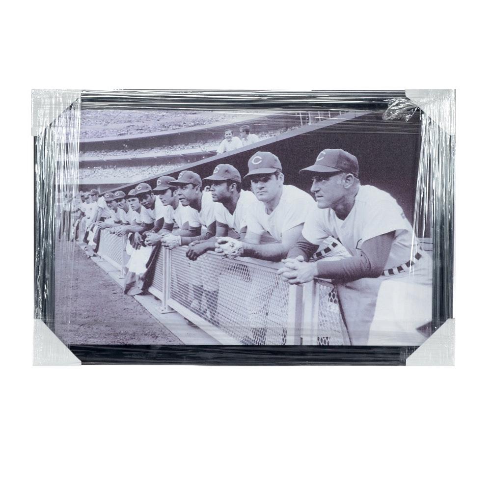 "1970 ""Big Red Machine"" Star Lineup Framed Baseball Print"
