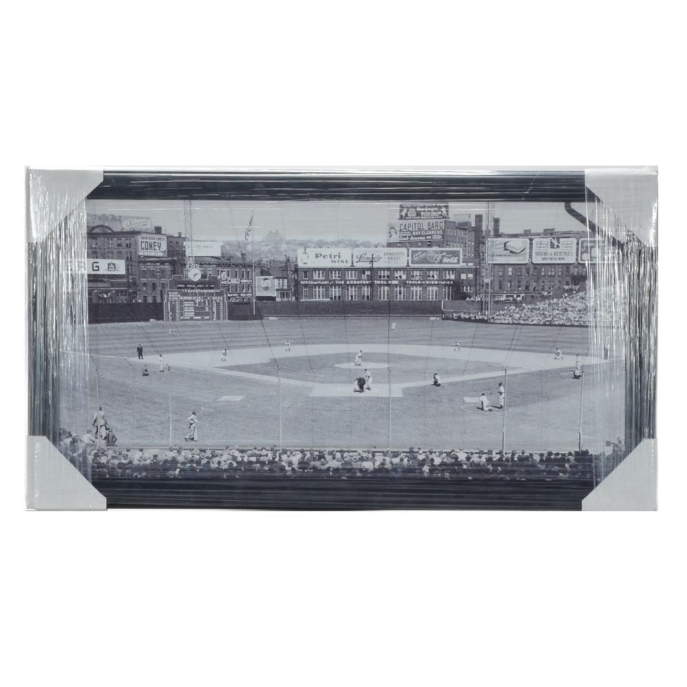 Contemporary 1940s-1950s Reds Vs. Cardinals Framed Baseball Print