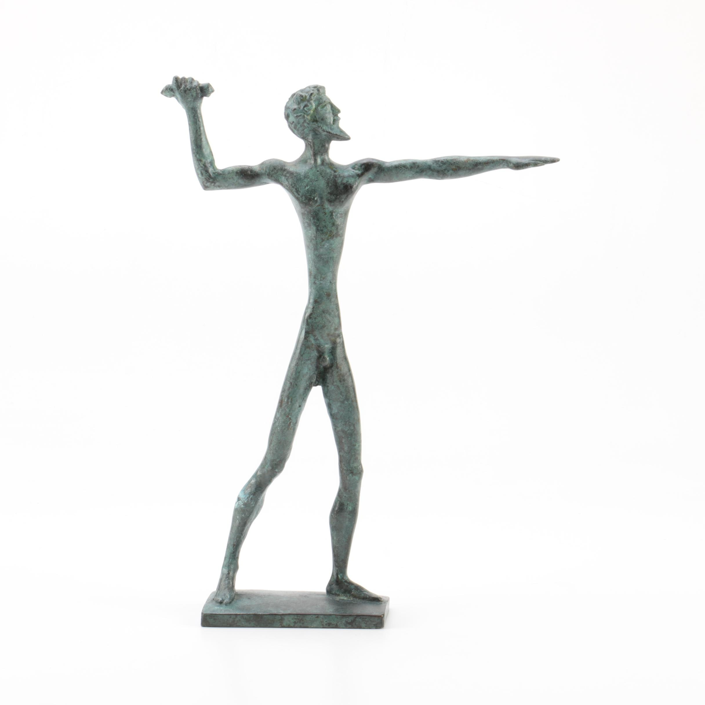 Reproduction Figure of Zeus with Lightning Bolt