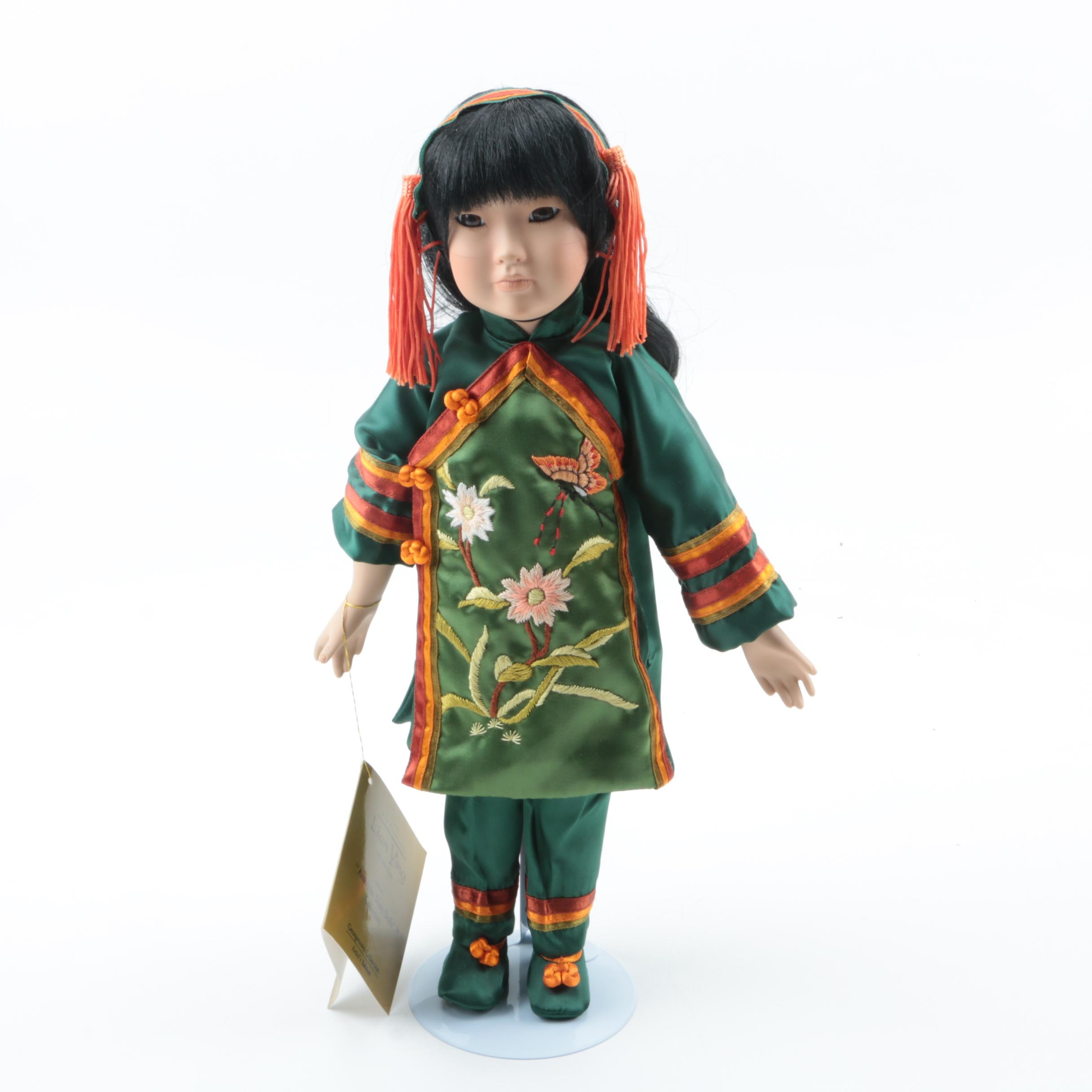"""Georgetown Collection """"Lian Ying"""" Porcelain Doll by Linda Mason"""