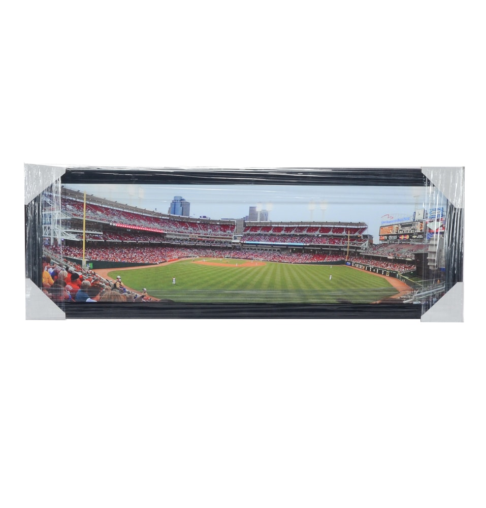 Great American Ball Park Framed Baseball Print