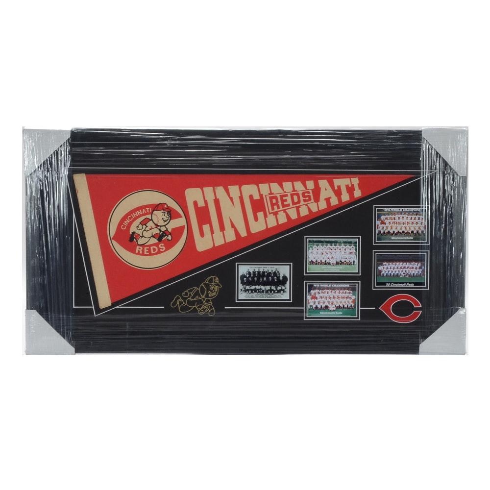 "Cincinnati Reds ""Five World Championship"" Framed Baseball Display"