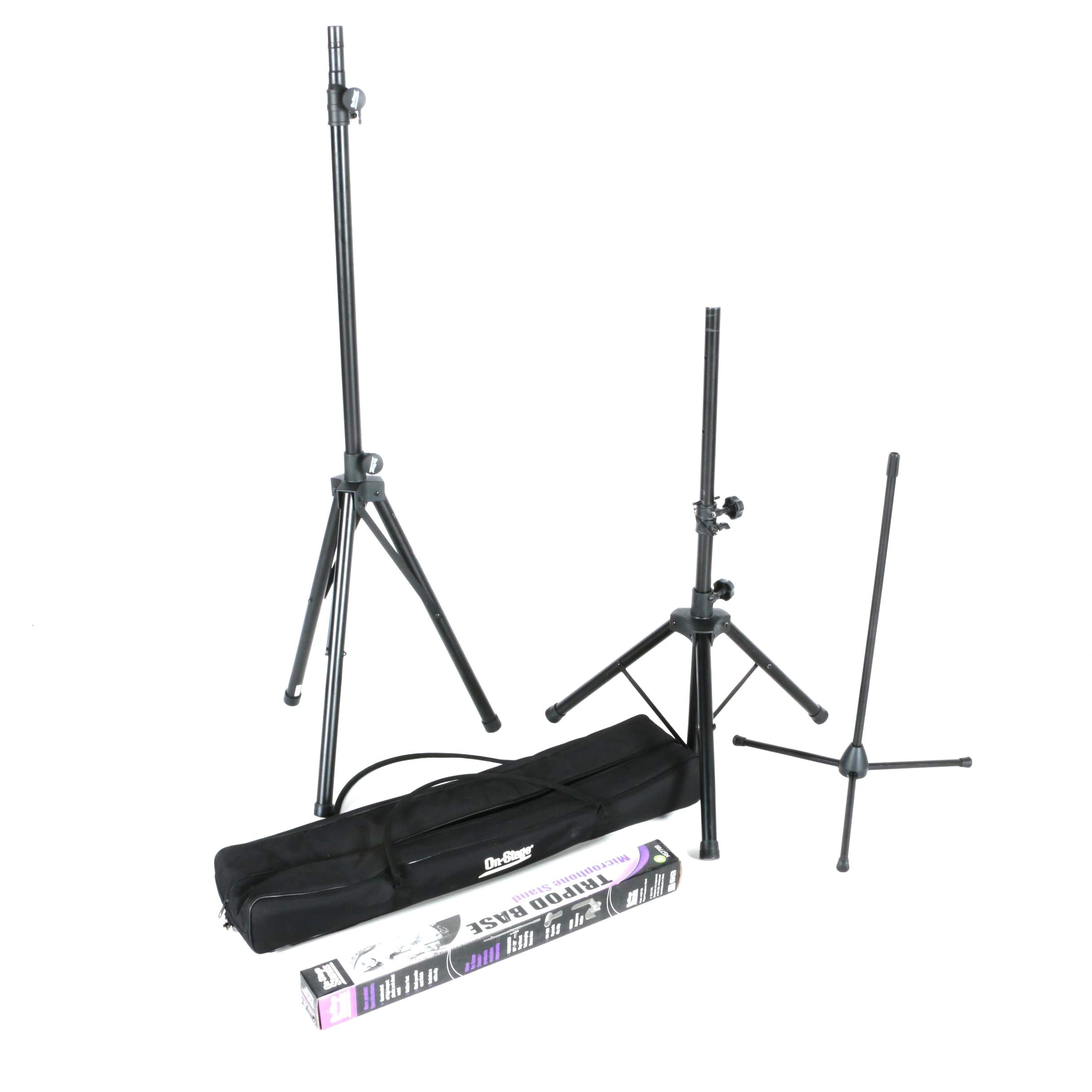 On-Stage Speaker and Microphone Stands