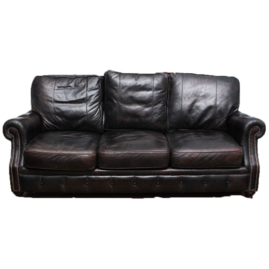 Arhaus Leather Sofa
