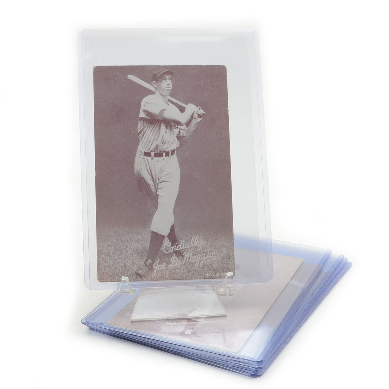 Six 1940s Exhibit Baseball Cards With DiMaggio and Greenberg