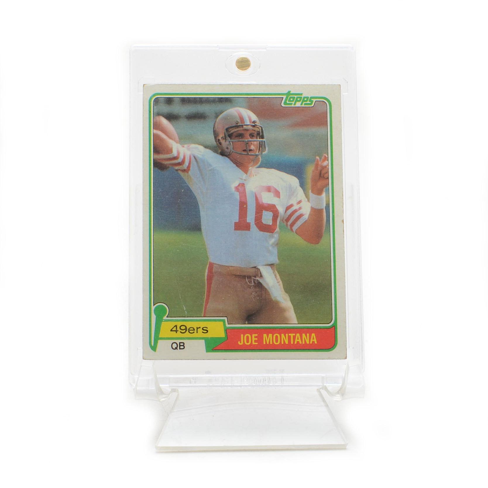 1981 Joe Montana San Fransisco 49ers Topps Rookie Football Card