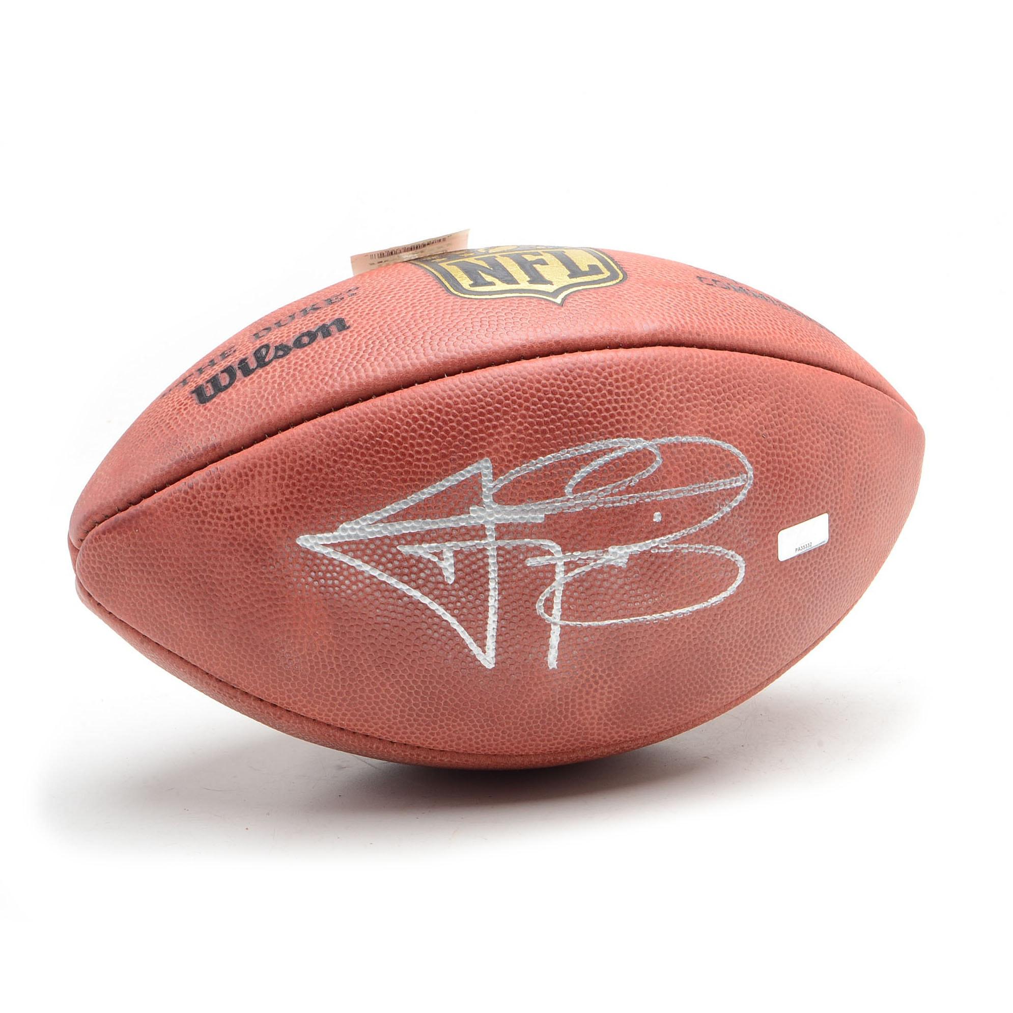 Johnny Manziel Autographed NFL Football  COA